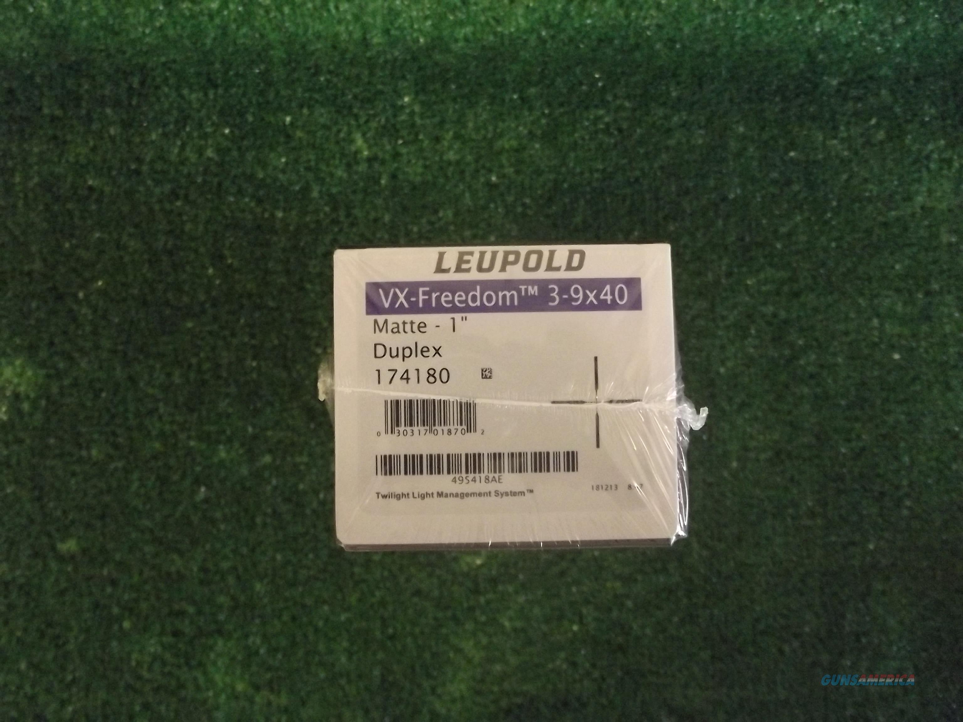 Leupold VX-Freedom 3-9x40 Duplex  Non-Guns > Scopes/Mounts/Rings & Optics > Rifle Scopes > Variable Focal Length