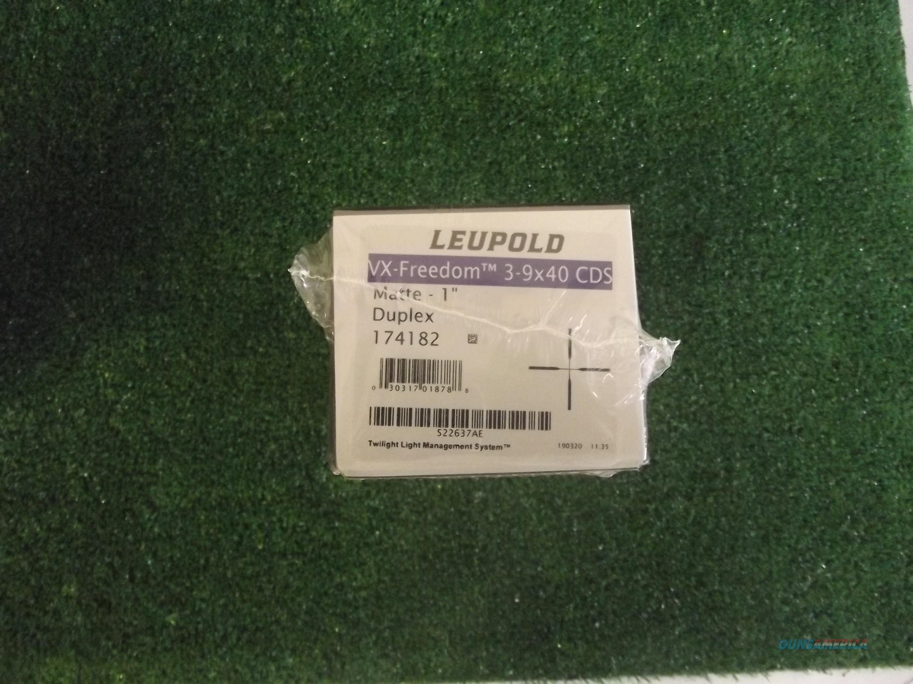 Leupold VX-Freedom 3-9x40 CDS Duplex  Non-Guns > Scopes/Mounts/Rings & Optics > Rifle Scopes > Variable Focal Length