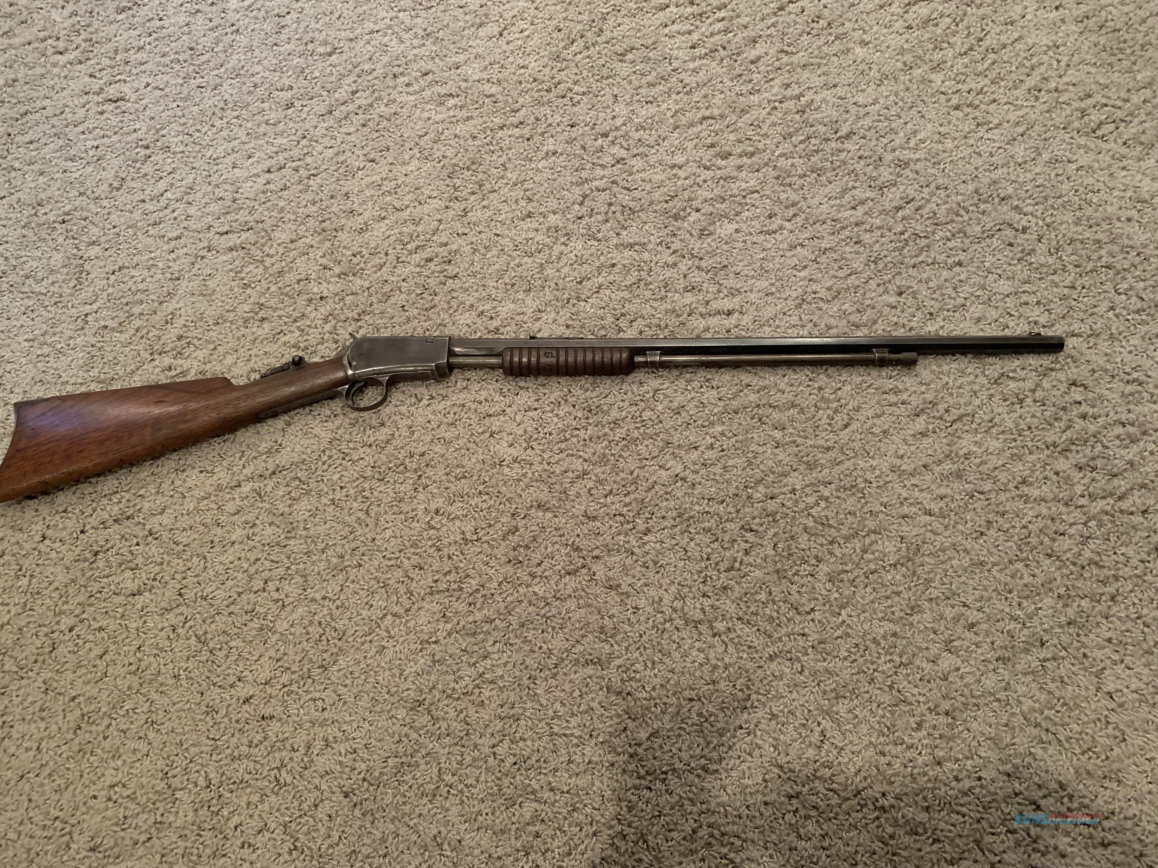 Winchester 1890 model 90-22 long  Guns > Rifles > Winchester Rifles - Pre-1899 Pump
