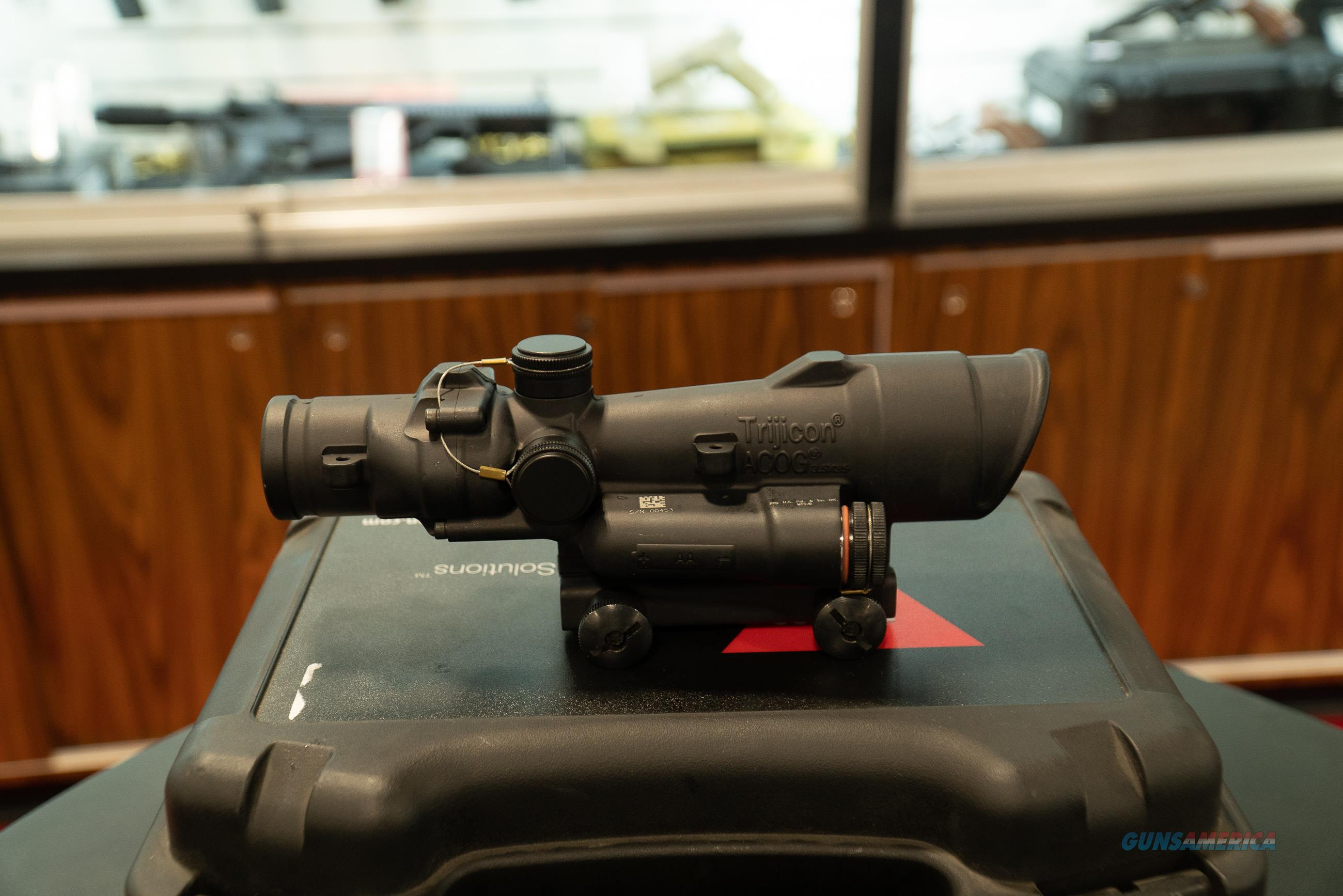 Trijicon 3.5x35 ACOG LED Green .223 Reticle   Non-Guns > Scopes/Mounts/Rings & Optics > Tactical Scopes > Optic/Light Combos