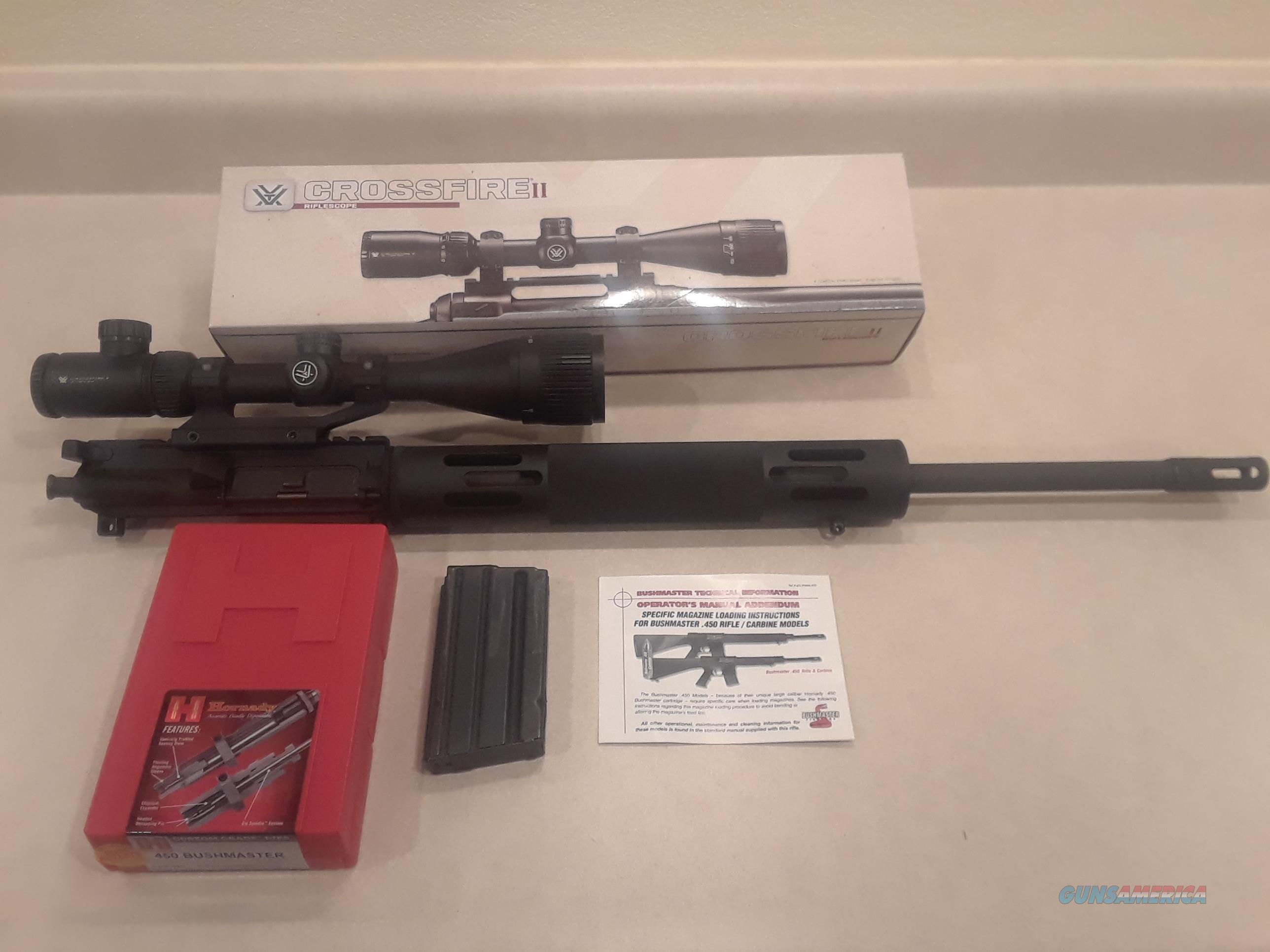Complete 450 Bushmaster Upper with scope and dies  Guns > Rifles > Bushmaster Rifles > Upper Only