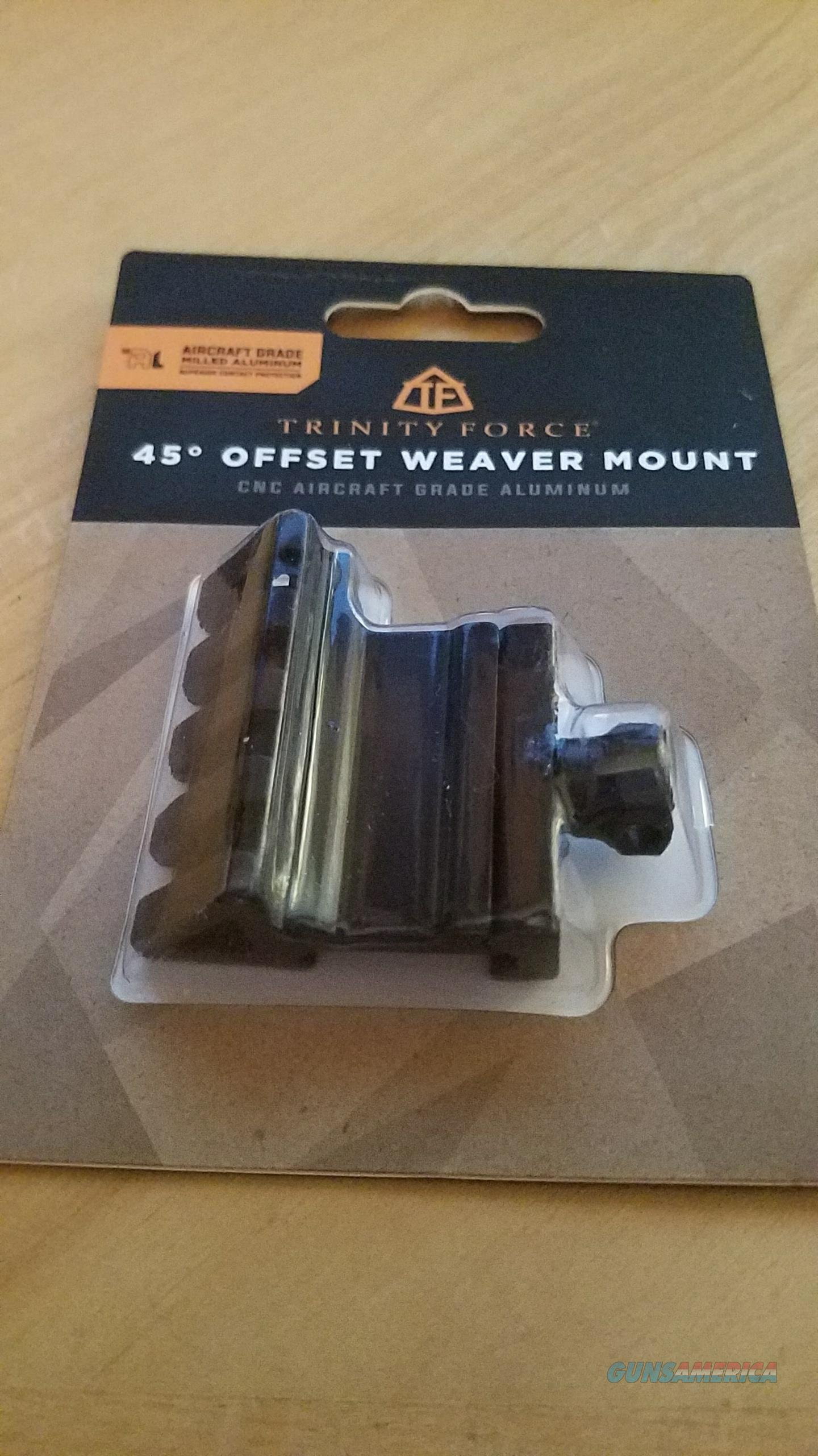 Trinity Force 45° Offset Weaver Mount MS45BS4  Non-Guns > Gun Parts > Misc > Rifles