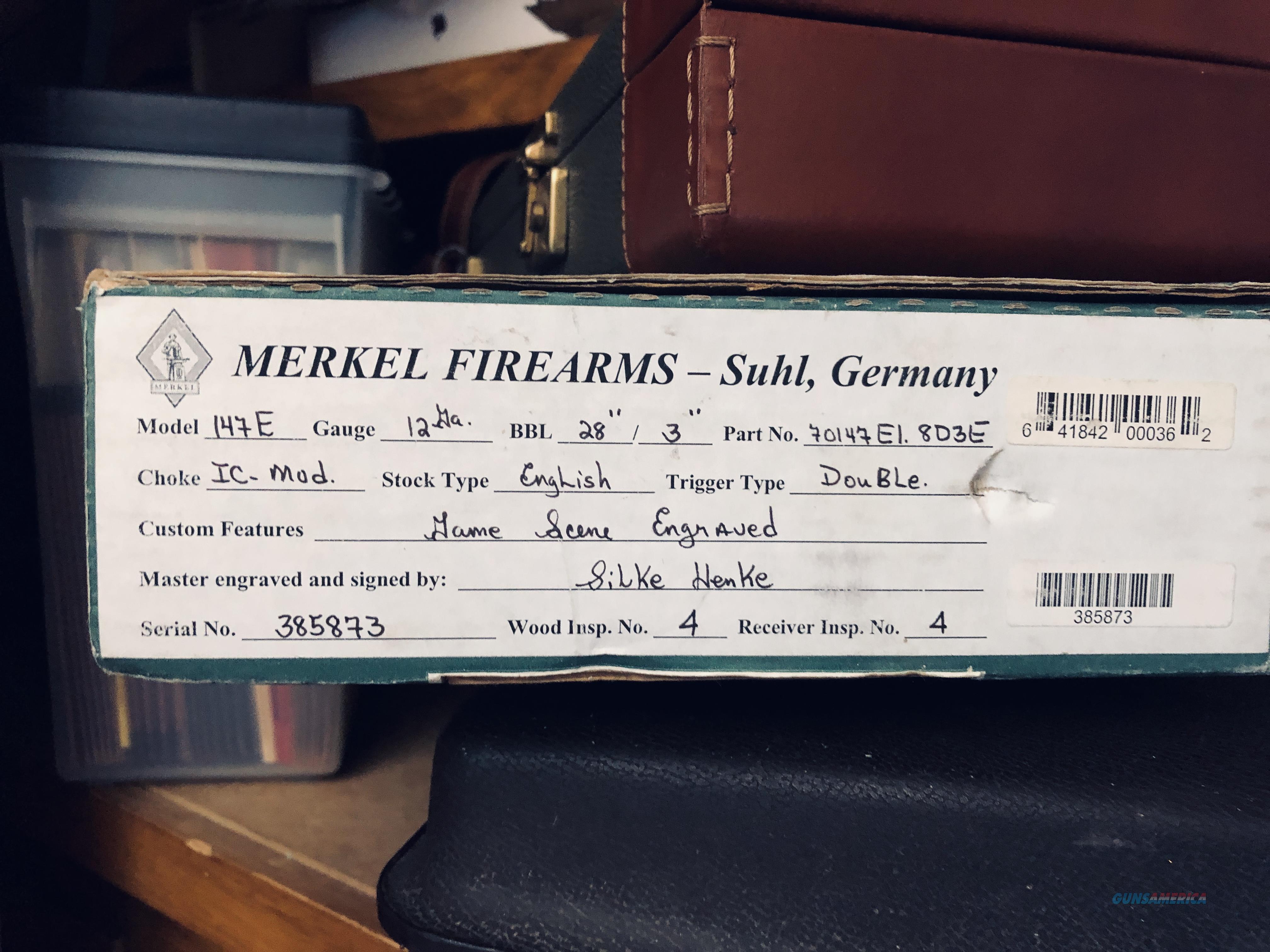 Merkel 147E SxS, Double Trigger, Straight Stock  Guns > Shotguns > Merkel Shotguns