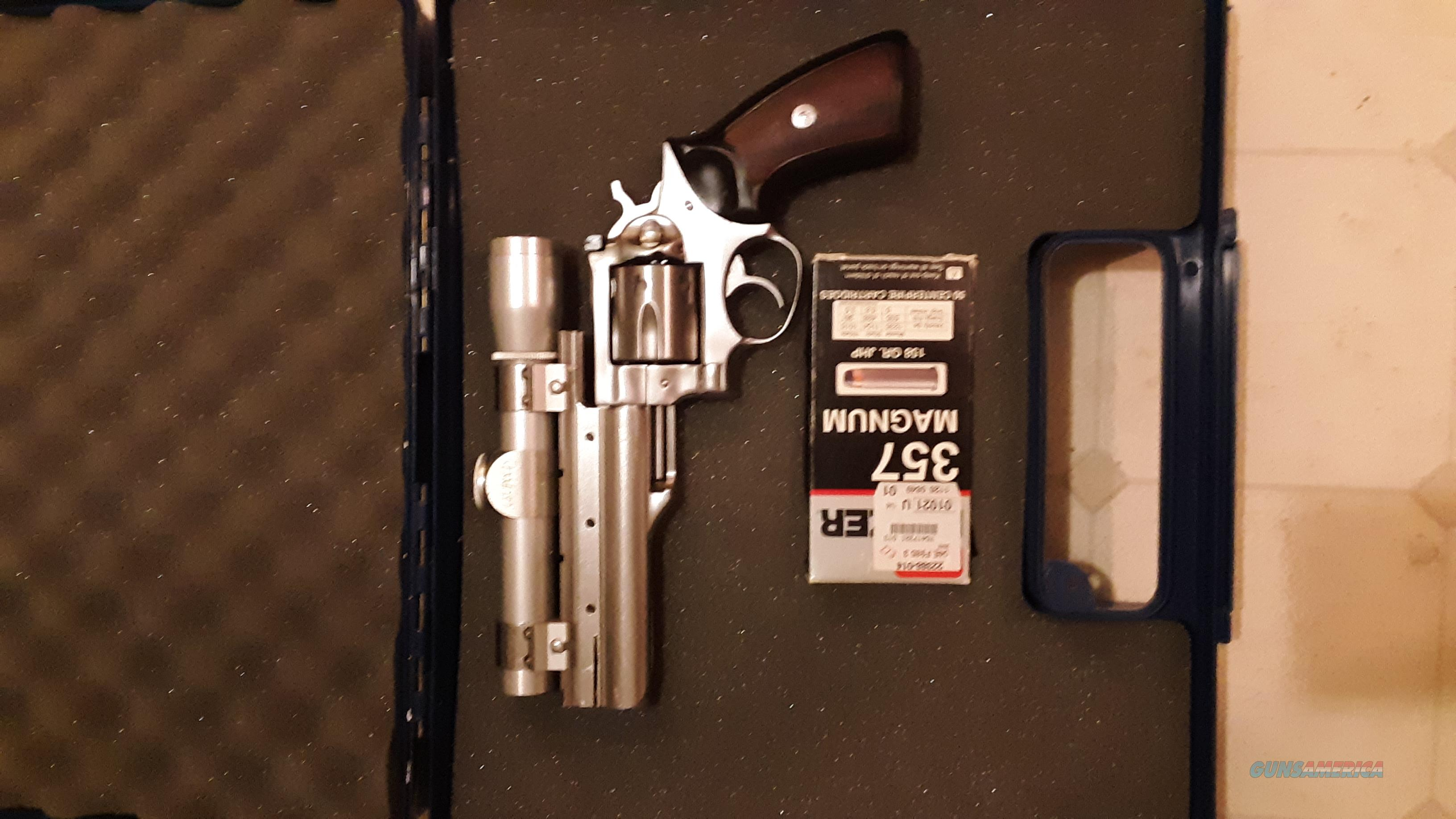 357 Stainless Magnum with scope  Guns > Pistols > Ruger Double Action Revolver > GP100
