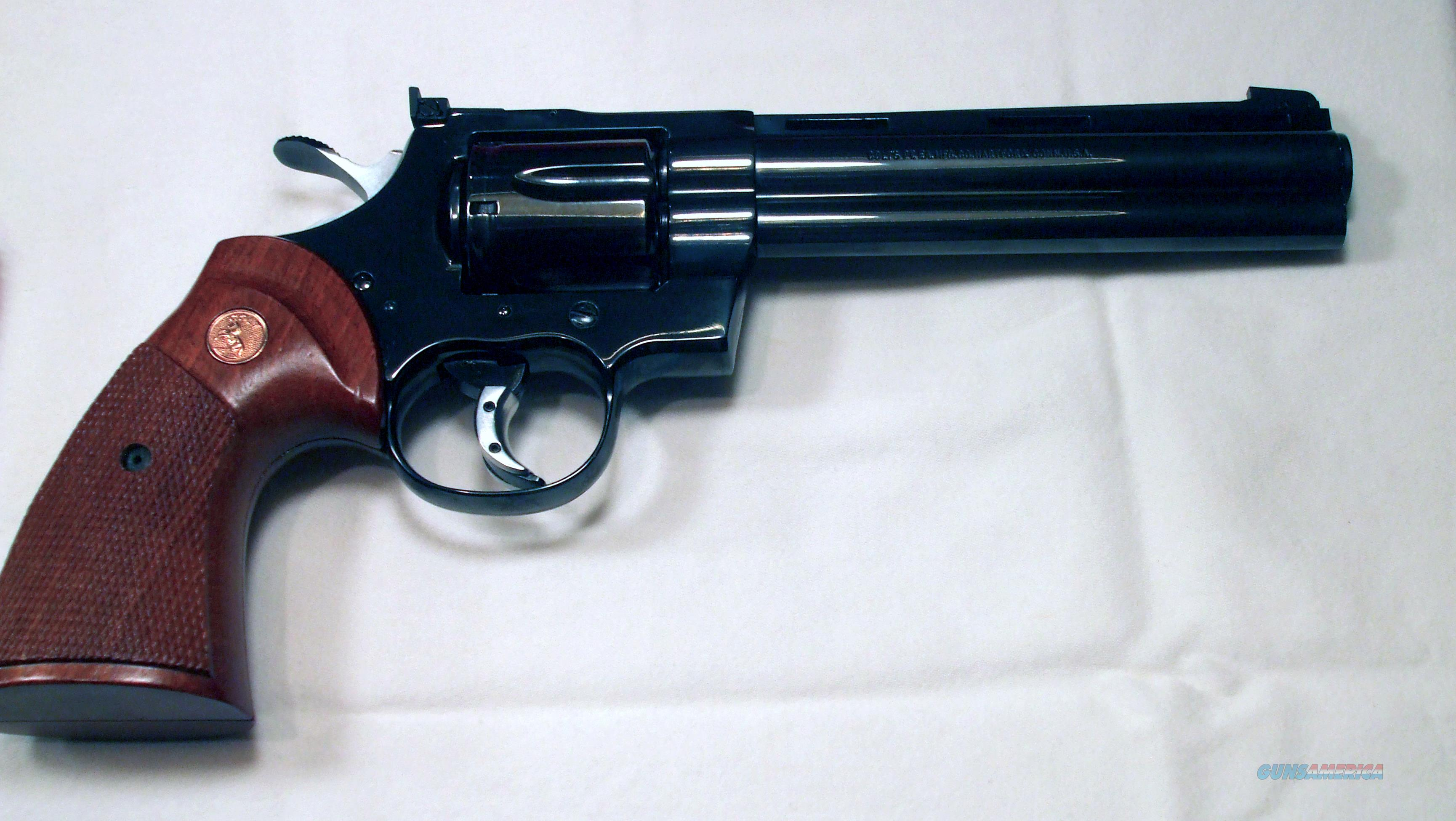 Colt Python .357 Magnum Custom Action  Guns > Pistols > Colt Double Action Revolvers- Modern