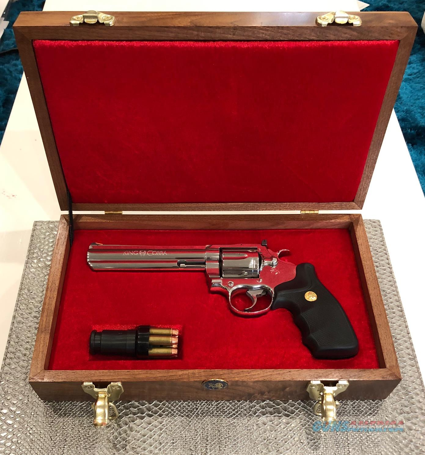 "Colt King Cobra 6"" Ultimate Polish AA3061 1988 150th Year, 1-Owner ""Excellent+"" w/ Box, All Papers & Walnut Presentation Box  Guns > Pistols > Colt Double Action Revolvers- Modern"