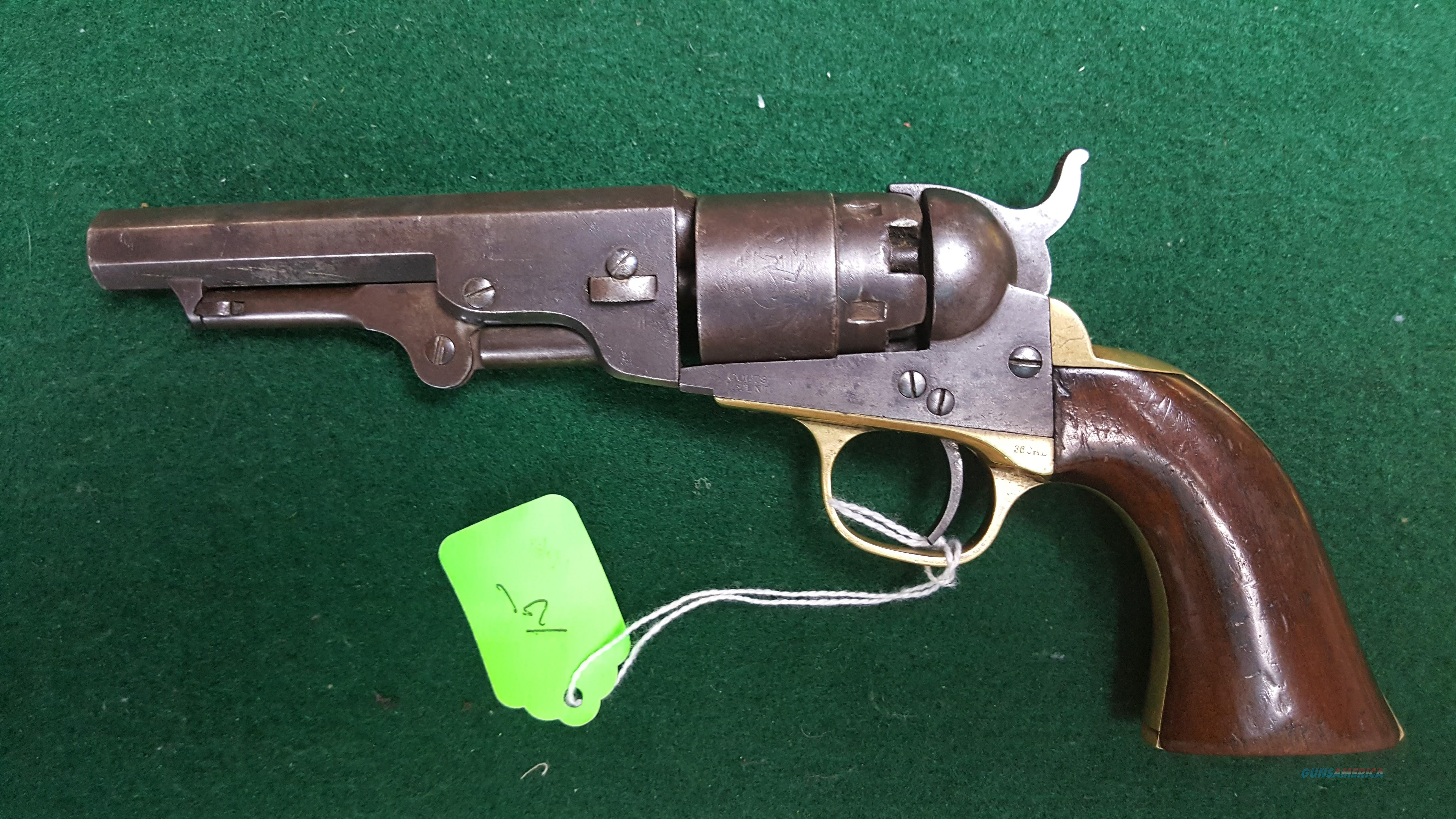 Colt Pocket Model of Navy Caliber  Guns > Pistols > Colt Percussion Revolver - Pre-1899