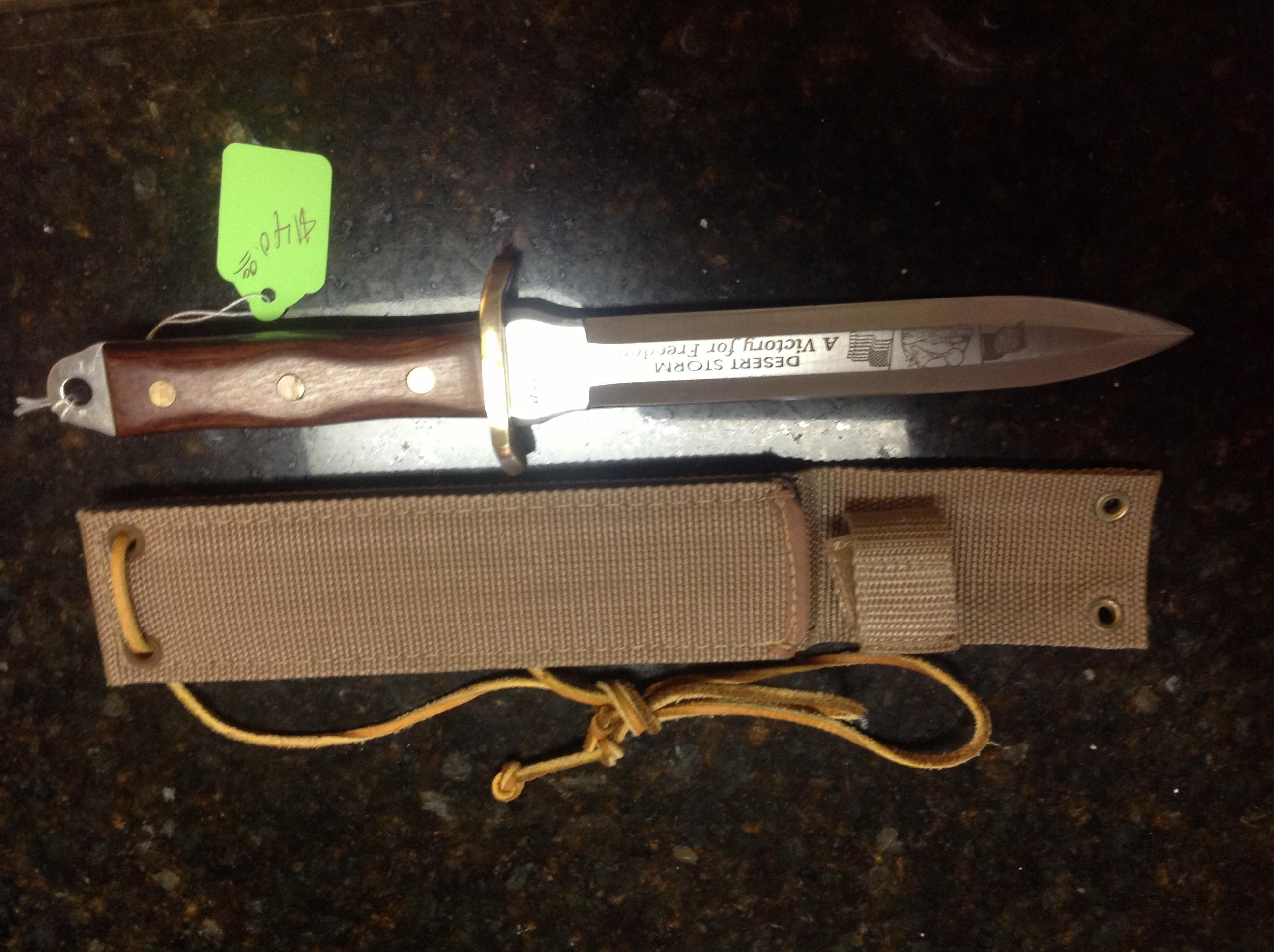 Desert Storm combat knife   Non-Guns > Knives/Swords > Knives > Fixed Blade > Imported