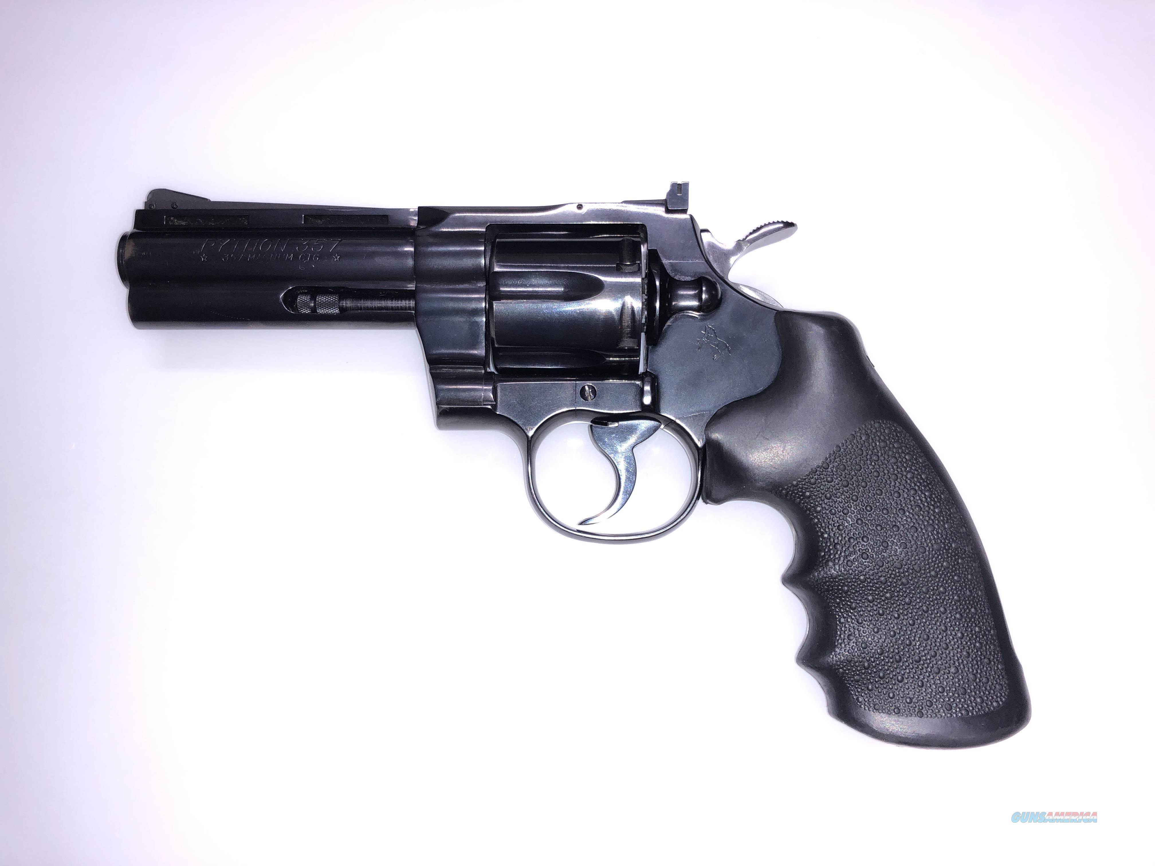 "Colt Python .357 Magnum - 4"" Barrel - Blue Finish  Guns > Pistols > Colt Double Action Revolvers- Modern"