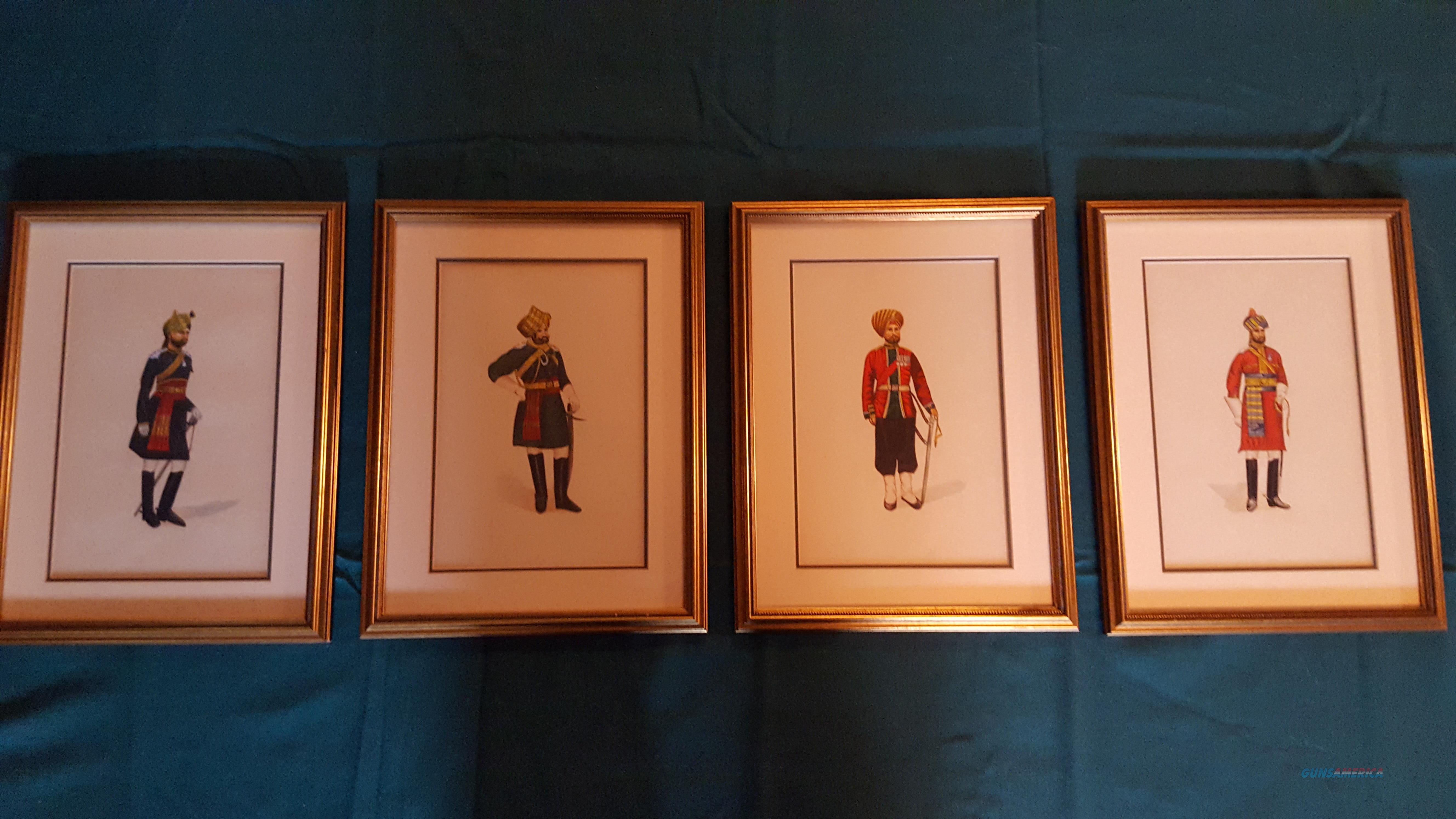 Gurka Soldier Framed Watercolors   Non-Guns > Artwork