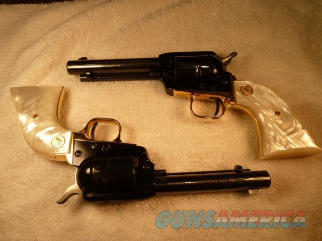 Pair of Colt 1863 West Virginia Centenial .22 LR SAA pistols   Guns > Pistols > Colt Commemorative Pistols