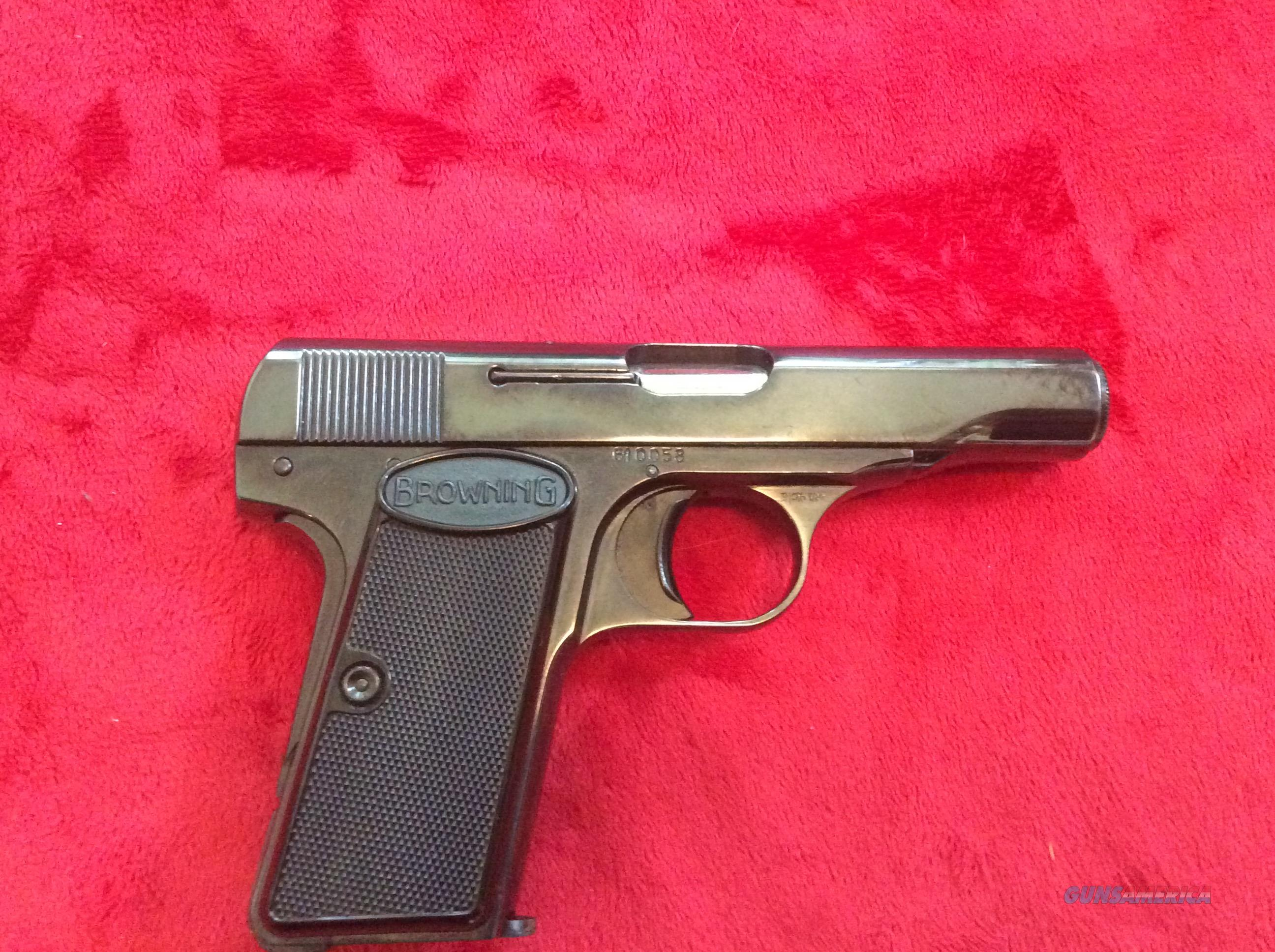 Browning model 1910-1955 380 semi auto  Guns > Pistols > Browning Pistols > Other Autos