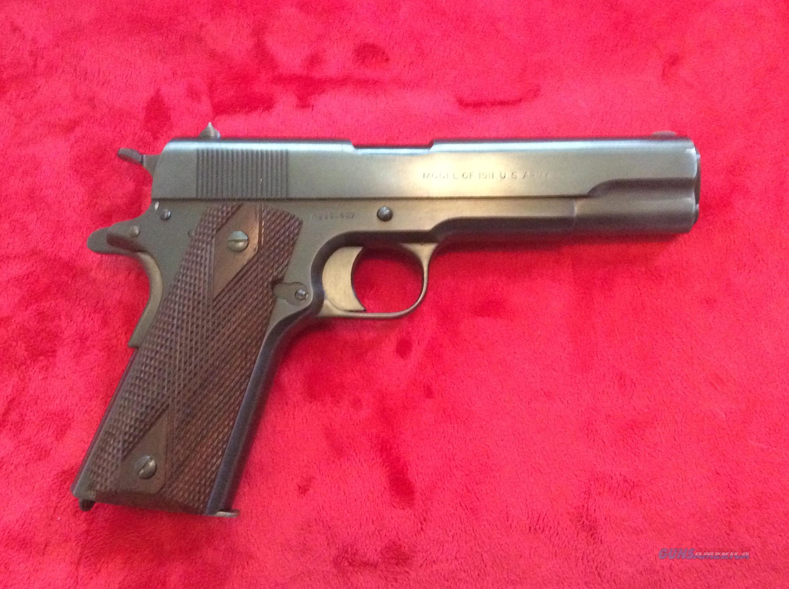 Colt model 1911 U.S. Army .45acp  Guns > Pistols > Colt Automatic Pistols (1911 & Var)