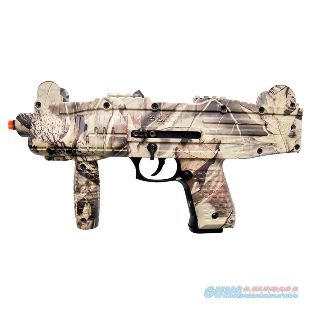 Camouflage EKOL ASI - UZI Fully Automatic Front Firing Blank Machine Gun  Non-Guns > Air Rifles - Pistols > Other