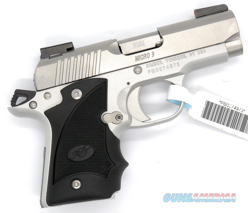Kimber Micro 9 Stainless Dn Tfx Pro Sight Hogue: BEST! KIMBER MICRO 9 SS (DN) CCP Hogue W/Truglo... For Sale