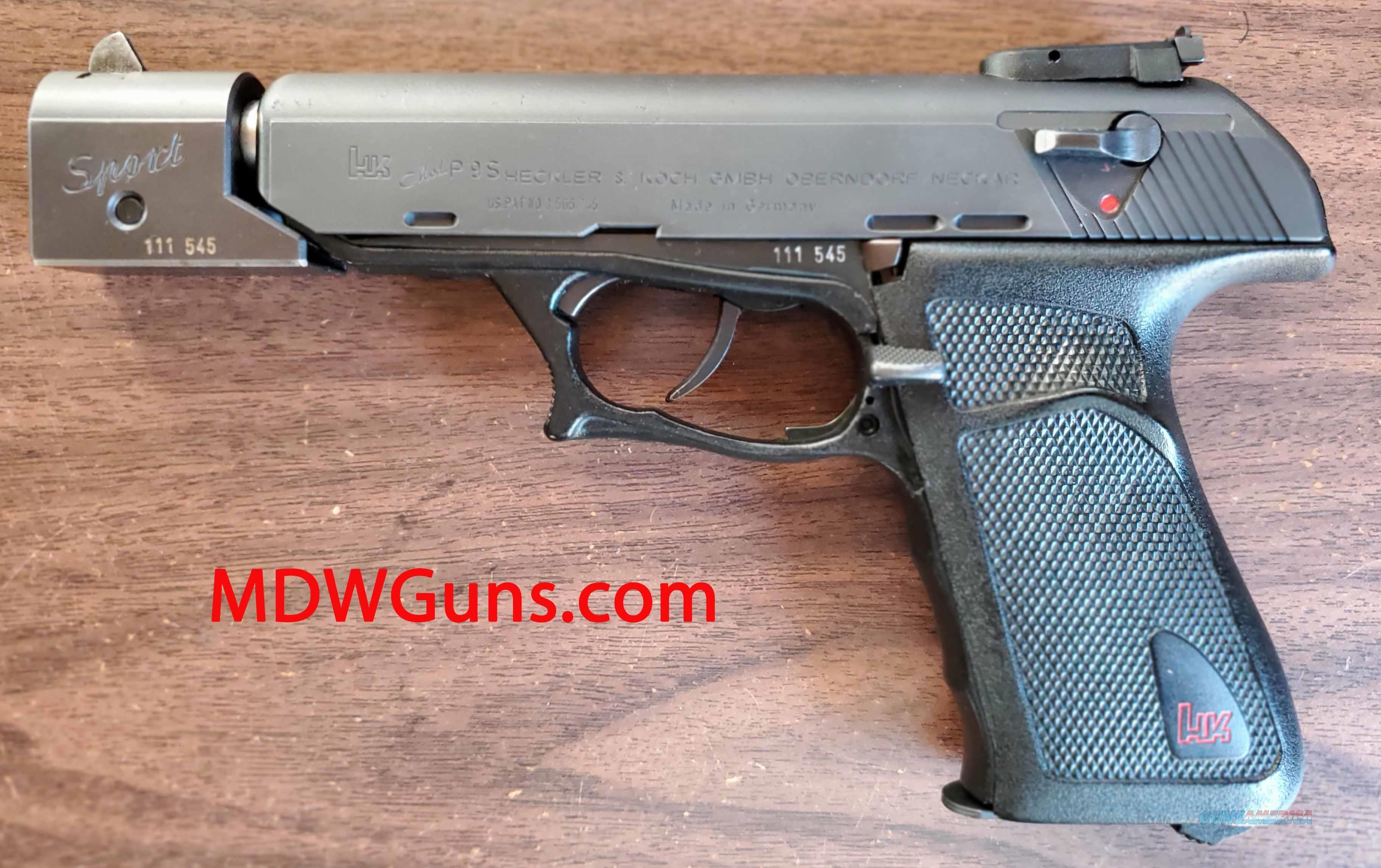HK P9S 9mm Sport  Guns > Pistols > Heckler & Koch Pistols > SteelFrame
