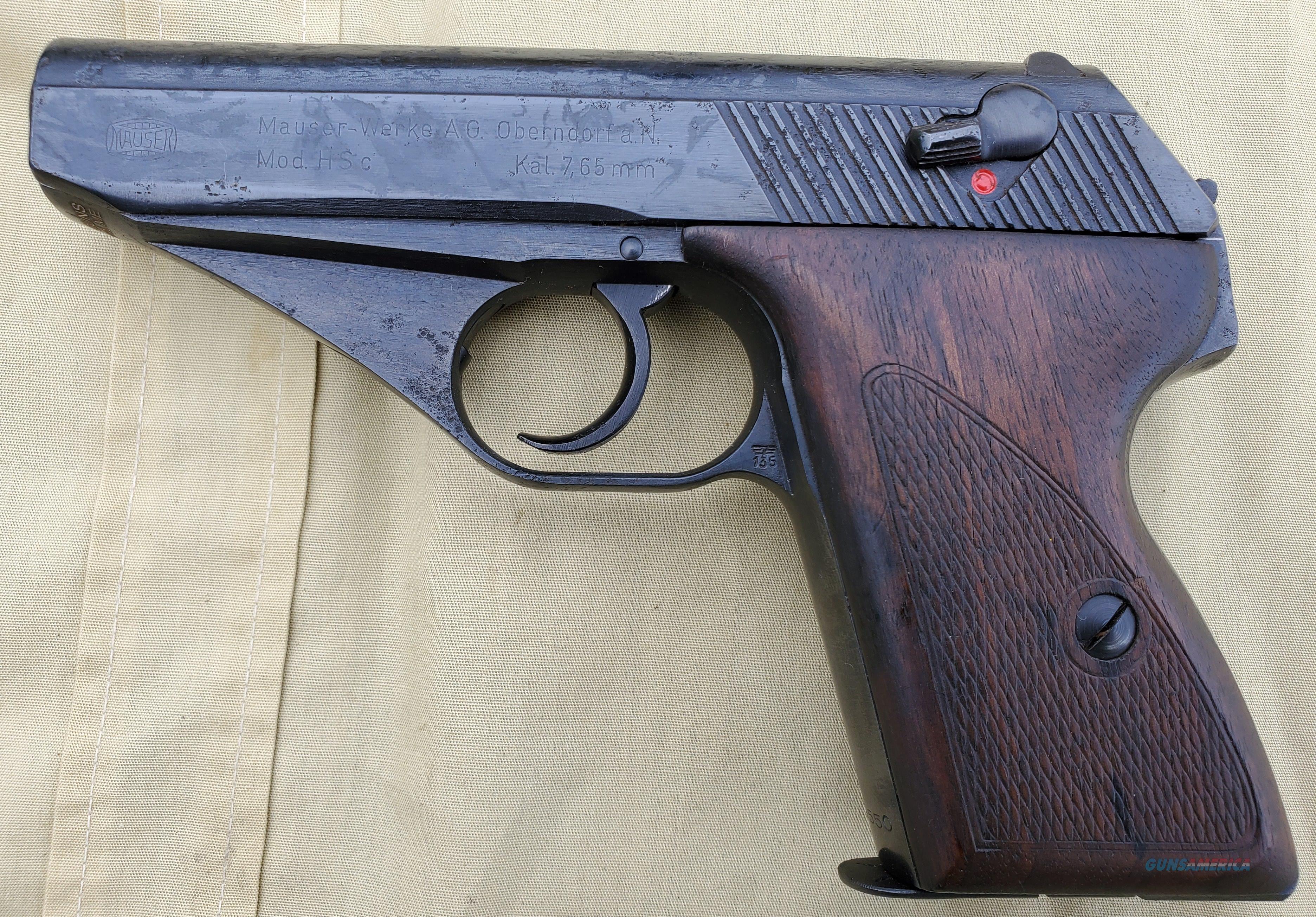 WTS Mauser HSC 7.65 WW2 production   Guns > Pistols > Mauser Pistols
