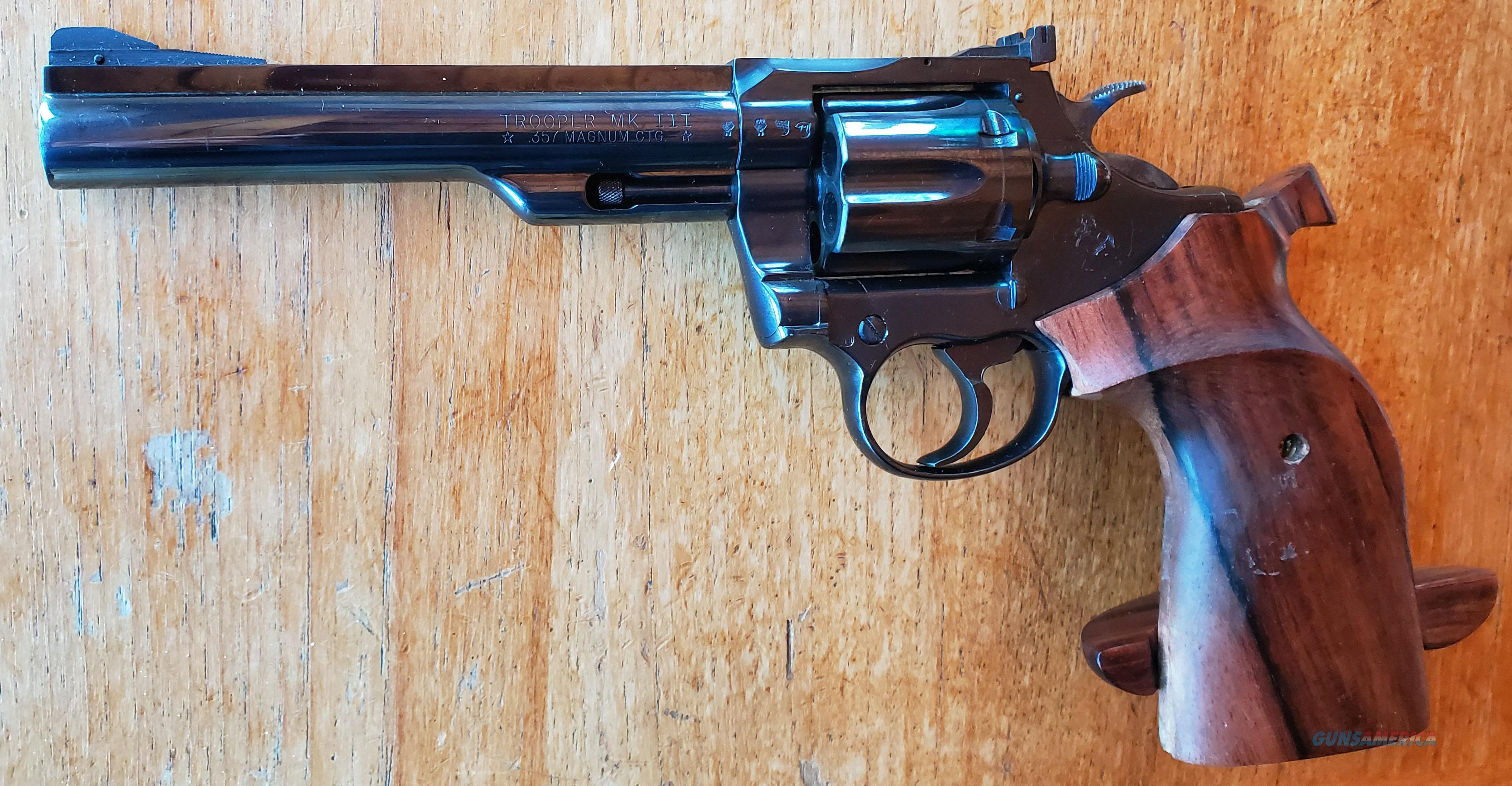 WTS Colt Trooper .357Mag  Guns > Pistols > Colt Double Action Revolvers- Modern