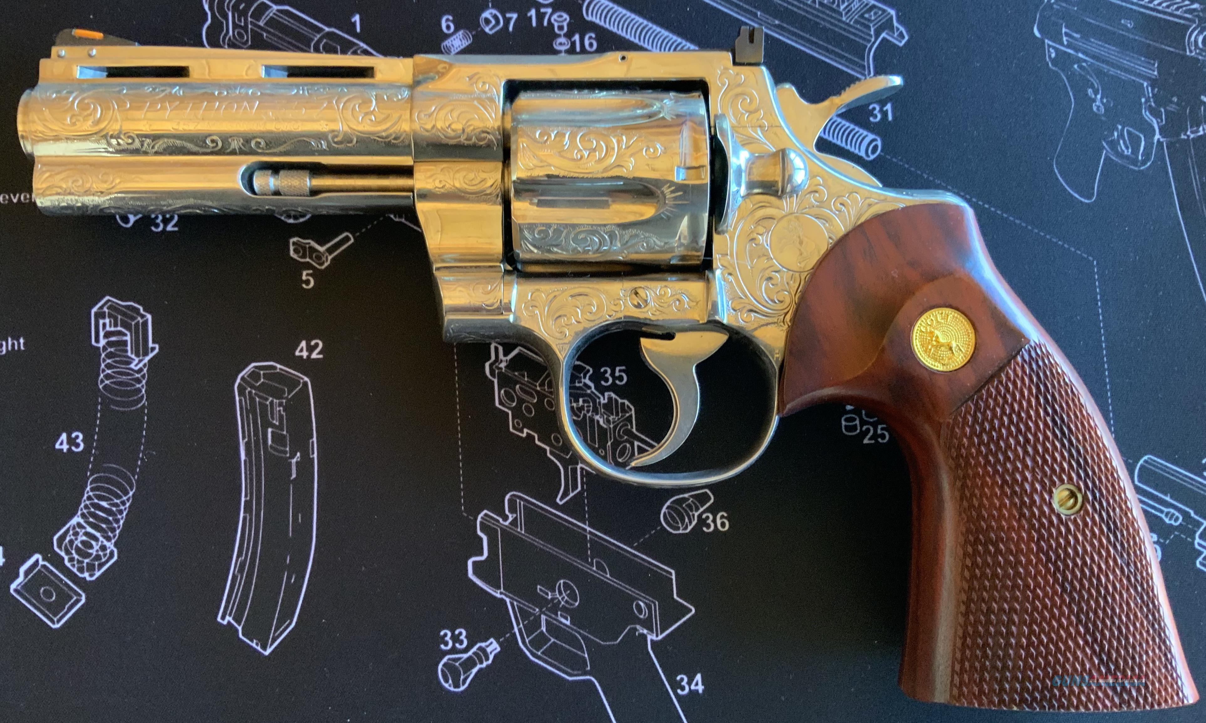WTS Colt Python Engraved  Guns > Pistols > Colt Percussion Revolver - Modern