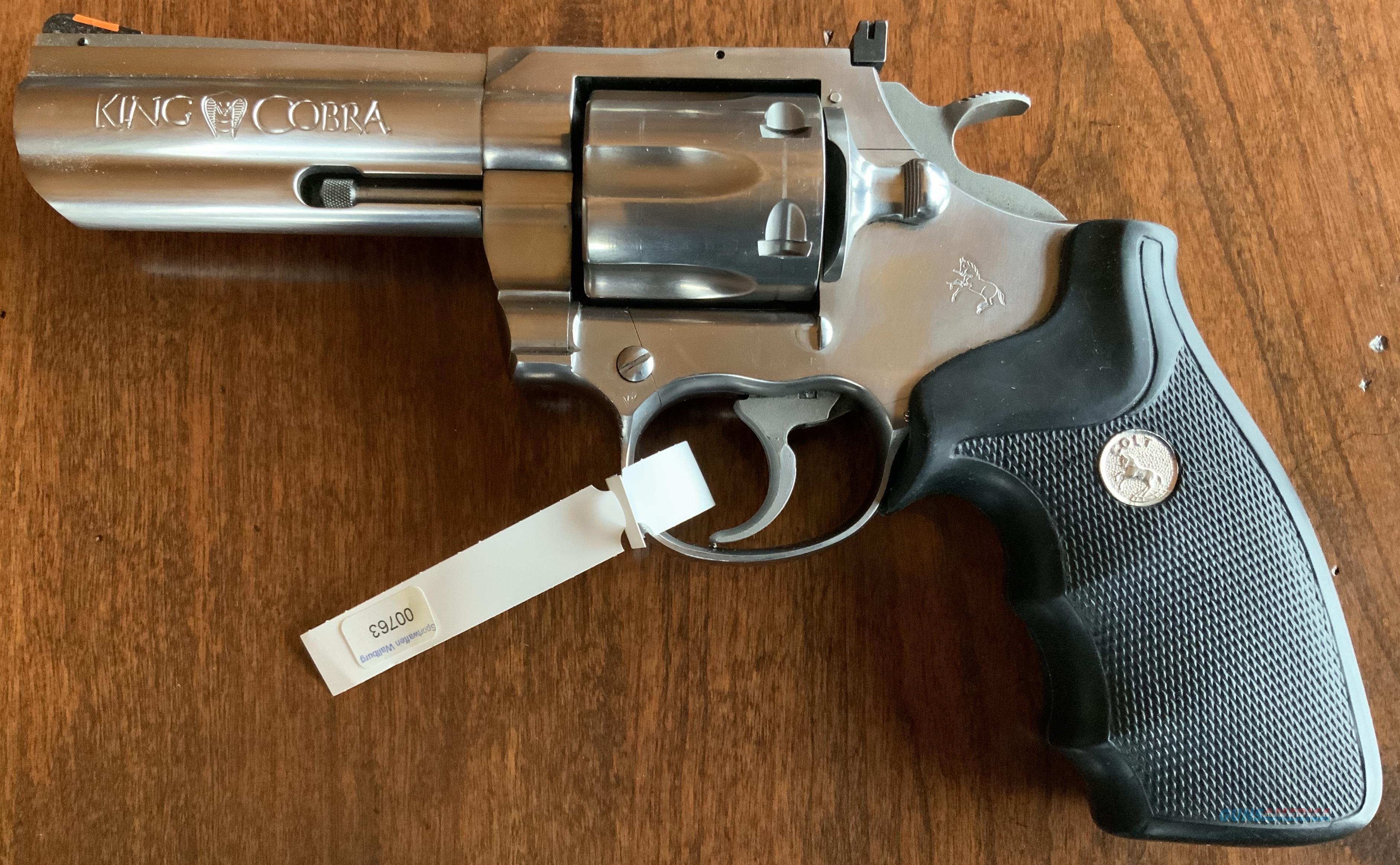 WTS COLT King Cobra Stainless Old Model  Guns > Pistols > Colt Double Action Revolvers- Modern
