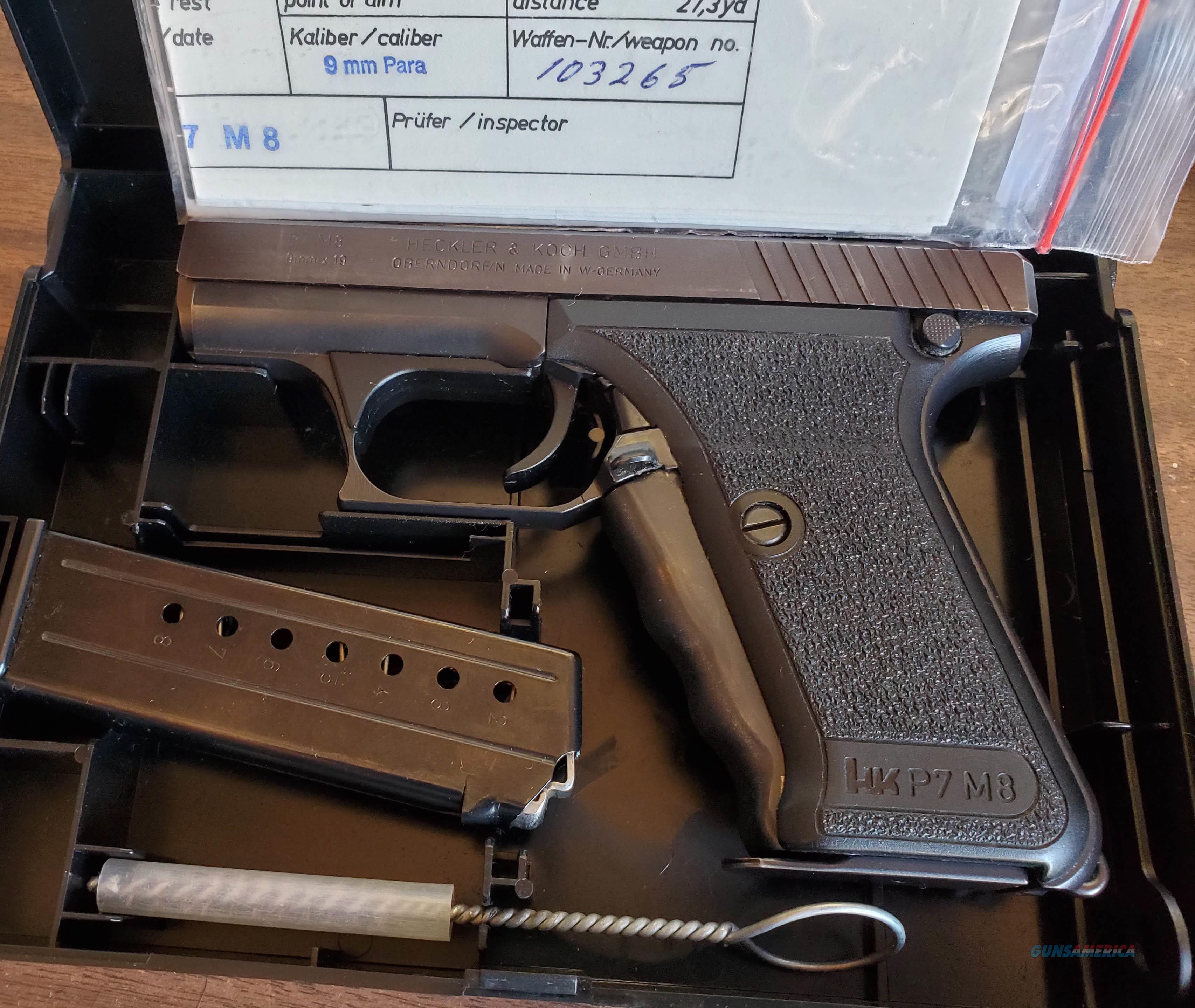 WTS HK P7M8  Guns > Pistols > Heckler & Koch Pistols > SteelFrame