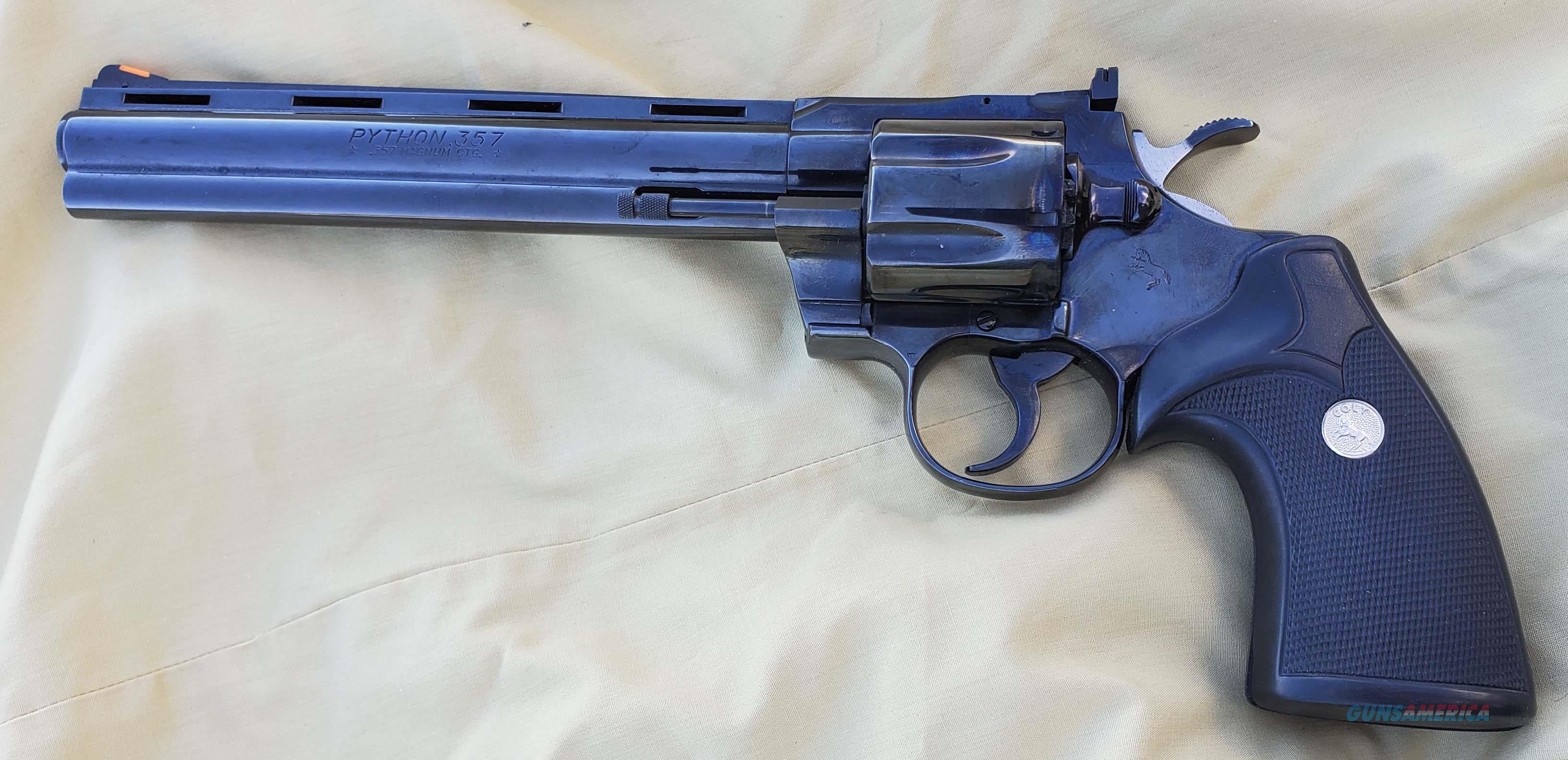 """WTS COLT Python 8""""  Guns > Pistols > Colt Double Action Revolvers- Modern"""