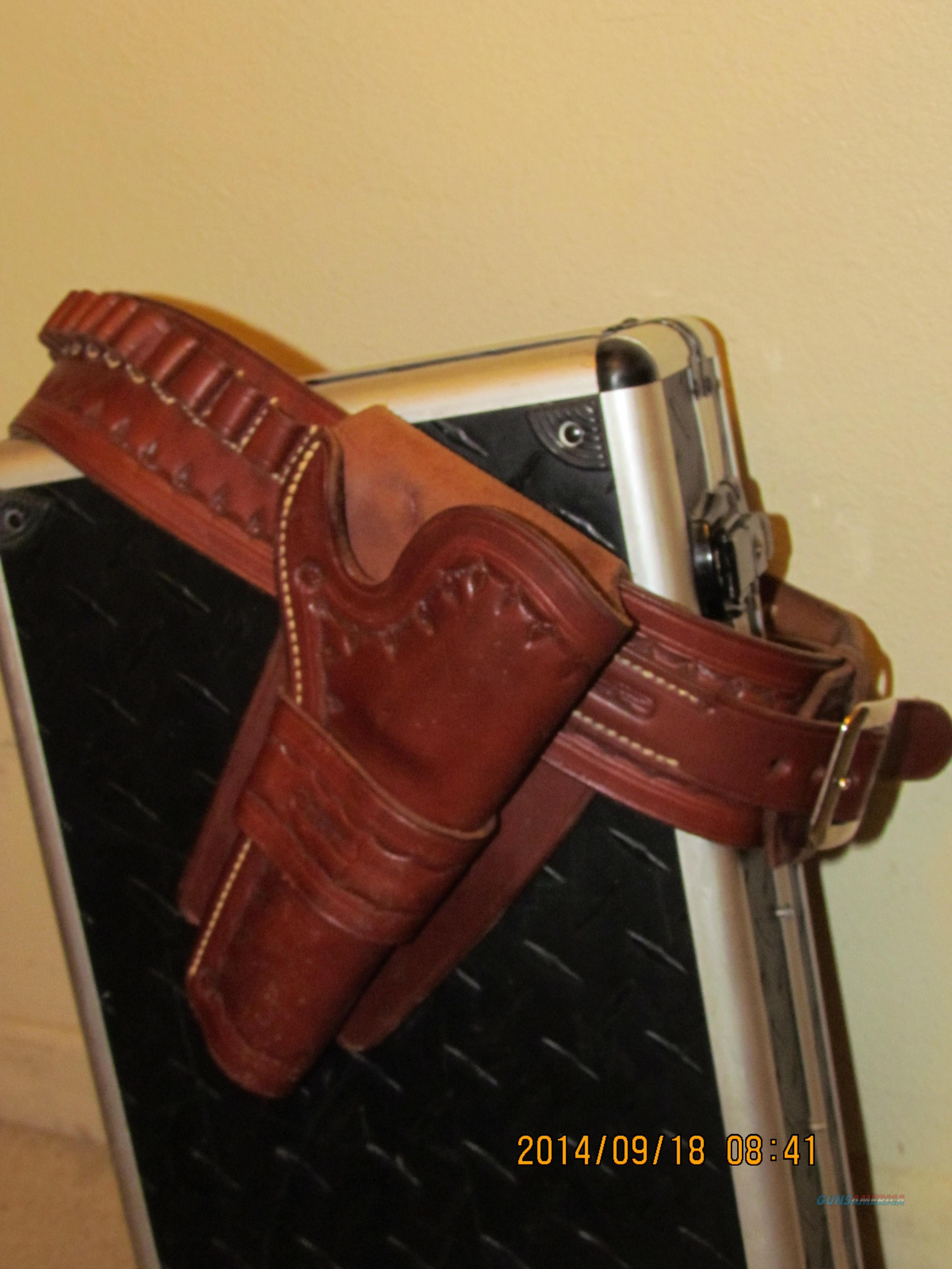 Cowboy Single Action Leather Holster/Belt, G. Wm Davis & Son maker, Walnut, Cal.   Non-Guns > Holsters and Gunleather > Cowboy