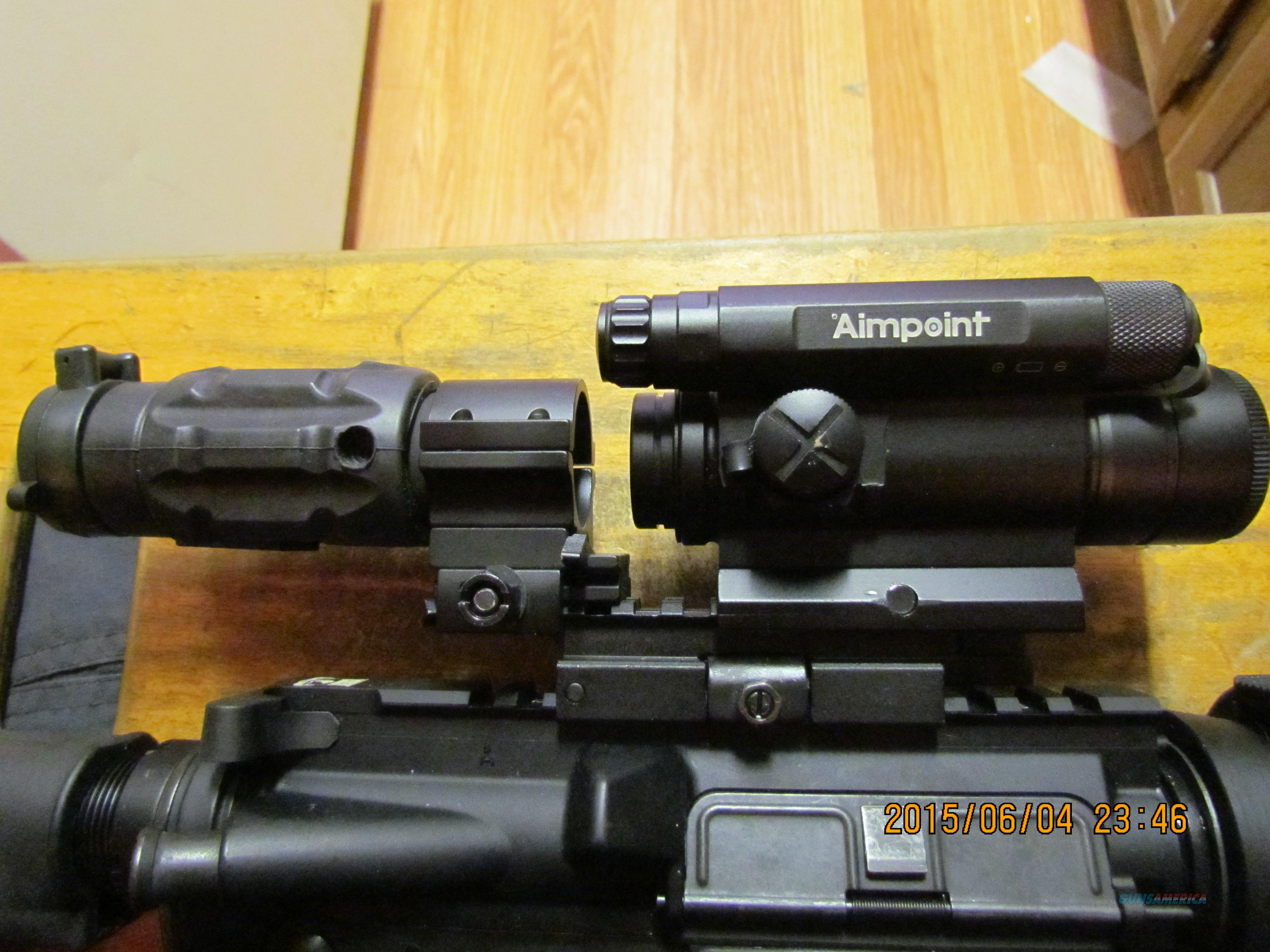 Aimpoint Comp 4 w/Aimpoint 3x magnifier w/twist mount ring & base  Non-Guns > Scopes/Mounts/Rings & Optics > Tactical Scopes > Red Dot