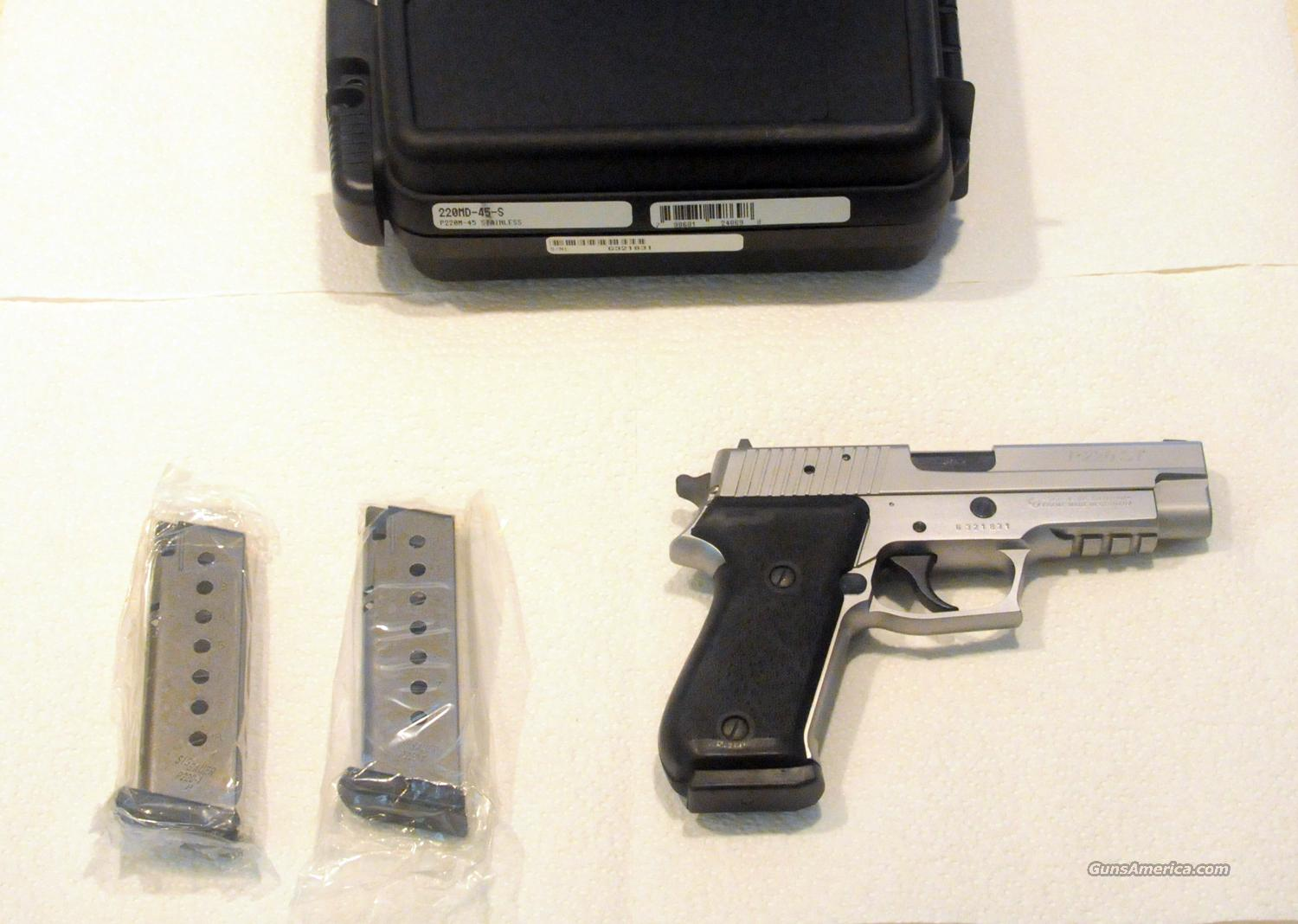 SIG P220MD-45-S Stainless Steel .45 P220 w/ ( 3 ) New Factory SS  Mags - This Was The First Stainless Steel Version Of The SIG P220 - Very Rare Variant - NIB [ 8/24 SOLD PENDING FUNDS ]  Guns > Pistols > Sig - Sauer/Sigarms Pistols > P220