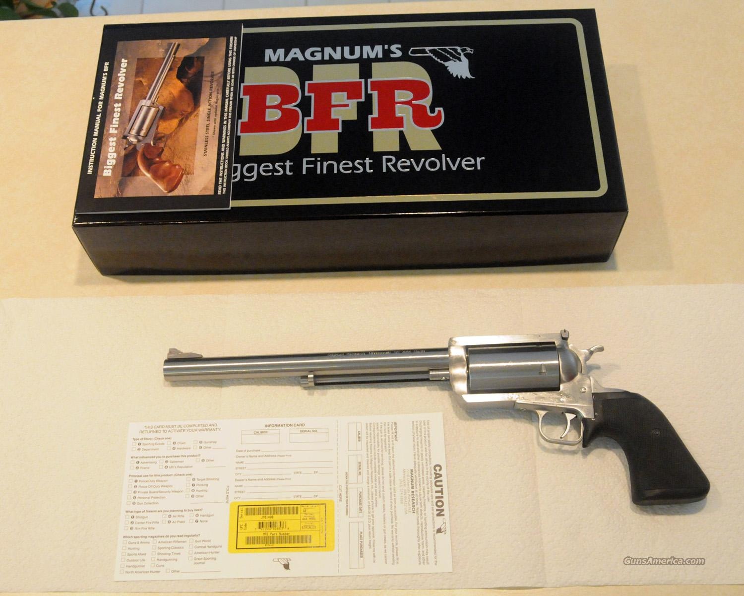 "Magnum Research BFR - Stainless Steel .444 Marlin w/ 10.0"" Barrel - Priced More Than $150 Below Dealer Cost - NIB  Guns > Pistols > Magnum Research Pistols"