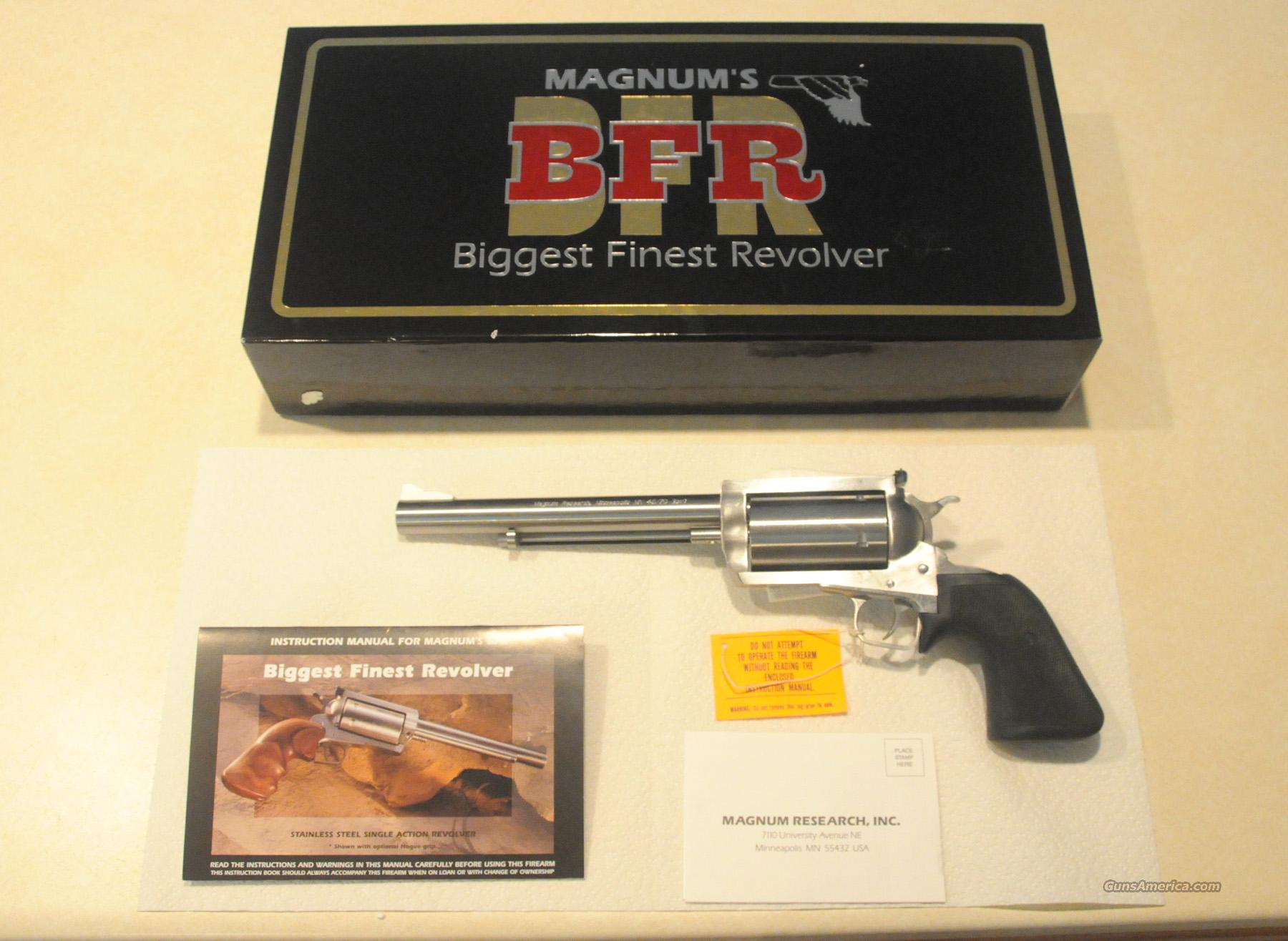 "Magnum Research BFRs - Two NIB Revolvers Available - .45-70 Gov't w/ 7.5"" Barrel  & .444 Marlin w/ 10.0"" Barrel - Priced $100 Below Dealer Cost  Guns > Pistols > Magnum Research Pistols"
