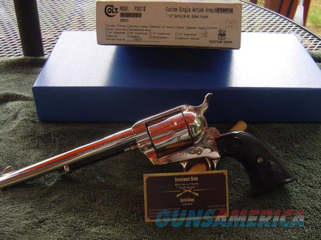 "Colt Single Action Army 7 1/2"" 38-40 Nickel Custom Shop   Guns > Pistols > Colt Single Action Revolvers - 3rd Gen."