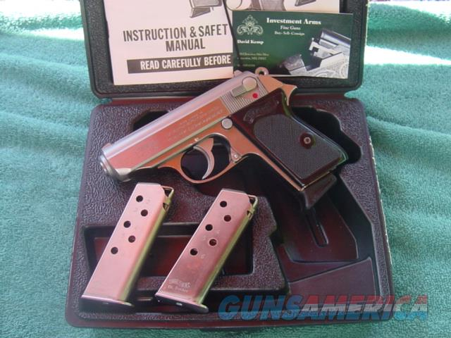 Walther PPK, 380 Stainless wth 3 mags/holster  Guns > Pistols > Walther Pistols > Post WWII > PPK Series