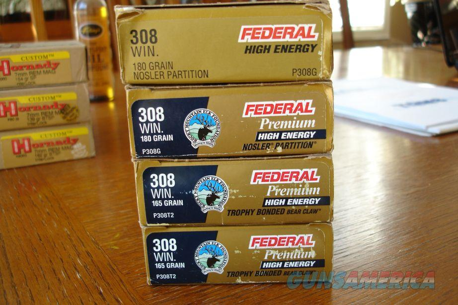 Federal Premium 308 Winchester 4 boxes 180 Partition 165 Bear Claw  Non-Guns > Ammunition