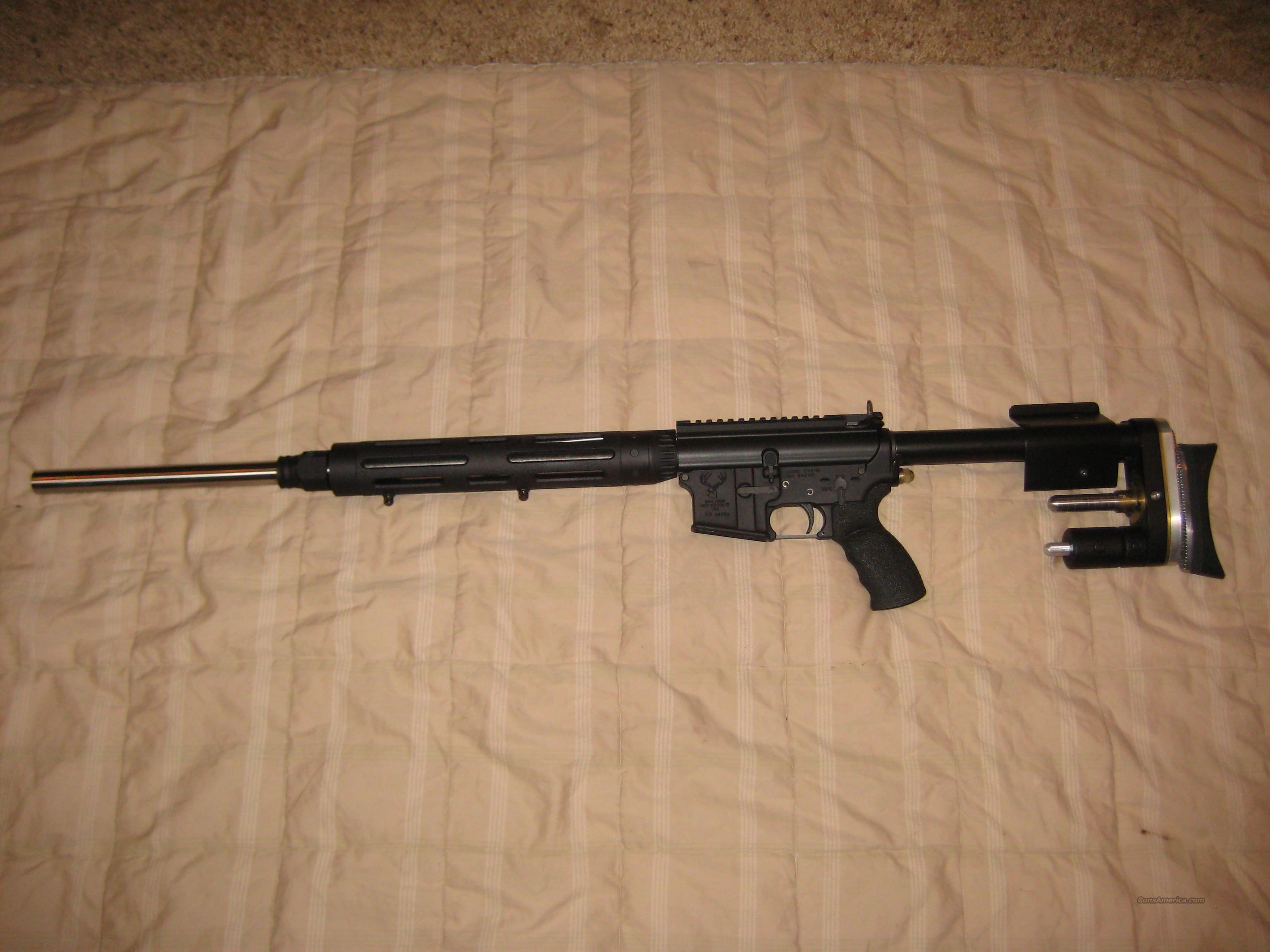 CUSTOM AR15 MATCH GUN WITH IRONSTONE STOCK  Guns > Rifles > AR-15 Rifles - Small Manufacturers > Complete Rifle