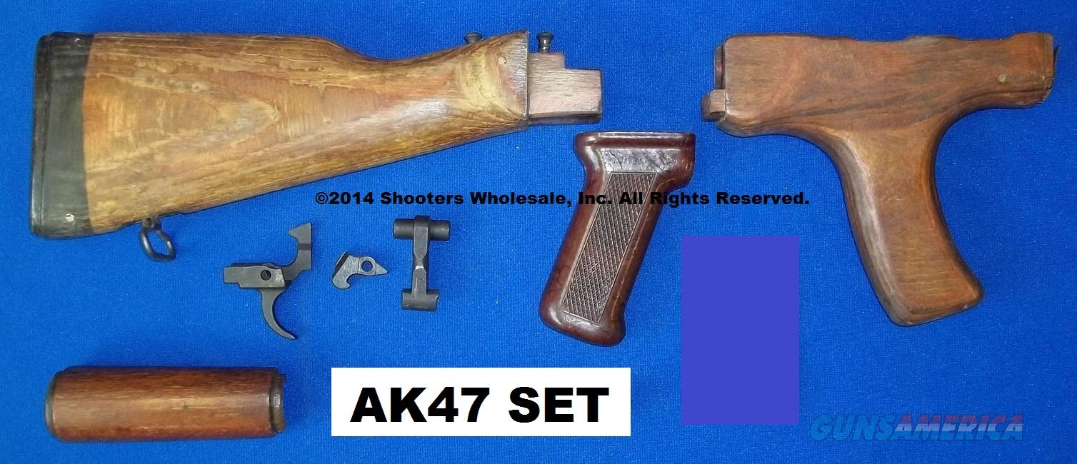 AK47 ORIGINAL USED SURPLUS SPARE PARTS: BUTTSTOCK * PISTOL GRIP FOREARM * GAS TUBE COVER *BAKELITE PISTOL GRIP * TRIGGER GROUP  Non-Guns > Gun Parts > Military - Foreign