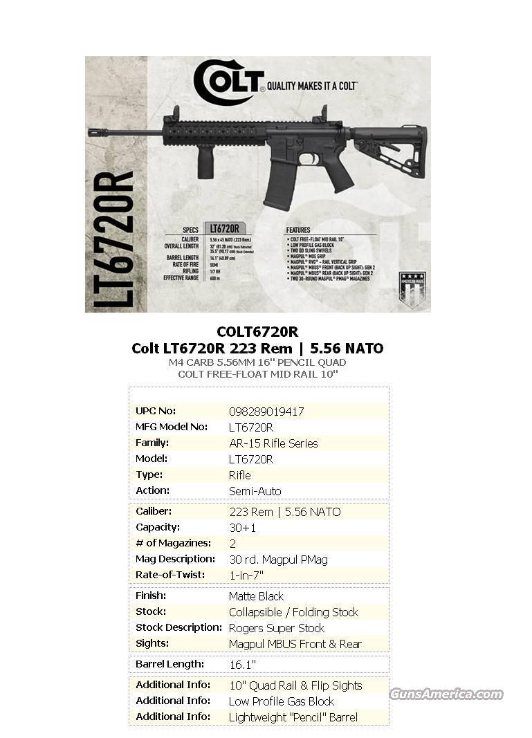 COLT M4 CARBINE LIMITED EDITION (1 of 1,500)  Guns > Rifles > Colt Military/Tactical Rifles