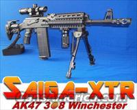 SAIGA AK47-XTR 308 WINCHESTER XTREME TACTICAL RIFLE! FLUTED BARREL*GL SHOCK ABSORBING COLLAPSIBLE STOCK*1X4 POWER CQB SCOPE*GUN-KOTE™*MUZZLE BREAK*BIPOD+MORE!!     Saiga Rifles