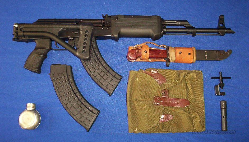 Black Widow Custom AK47 GALIL Style Package: Side-Folding Stock+Galil  Handguard+Two 30rd Mags+Bayonet+MORE!