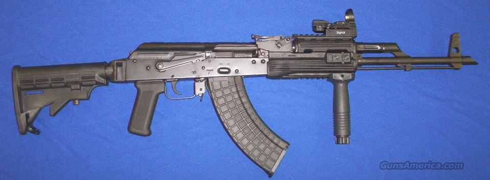 Black Widow AK47 Tactical: Micro-Reflex Sight+Collapsible Stock+Vertical Foregrip!  Guns > Rifles > AK-47 Rifles (and copies) > Full Stock
