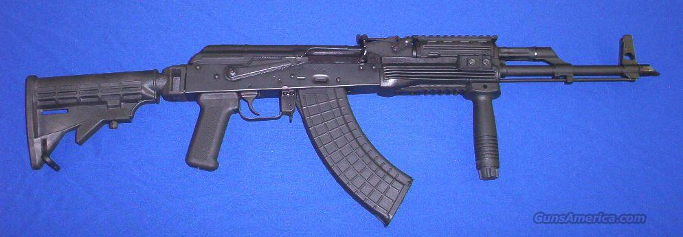 BLACK WIDOW TACTICAL AK47 with Collapsible 6-Position Stock+Command Arms Tactical Forearm+Vertical Foregrip+Polymer Mag!  Guns > Rifles > AK-47 Rifles (and copies) > Full Stock