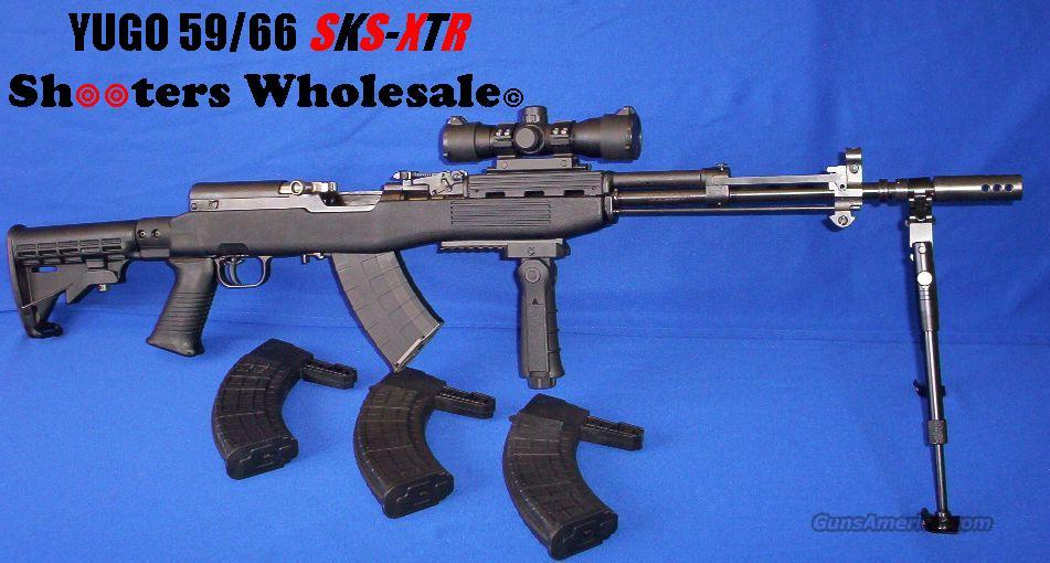 Yugo 59/66 SKS-XTR Xtreme Tactical Rifle System! ORIGINAL YUGO SKS+TAPCO INTRAFUSE STOCK SET+COLLAPSIBLE STOCK+DUAL RAIL SYSTEM+TACTEDGE RED/GREEN DOT+TELESCOPIC FOLDING BIPOD+FOUR HI-CAP MAGS+FOLDING VERTICAL FOREGRIP+MUZZLE BREAK+MORE!  Guns > Rifles > SKS Rifles