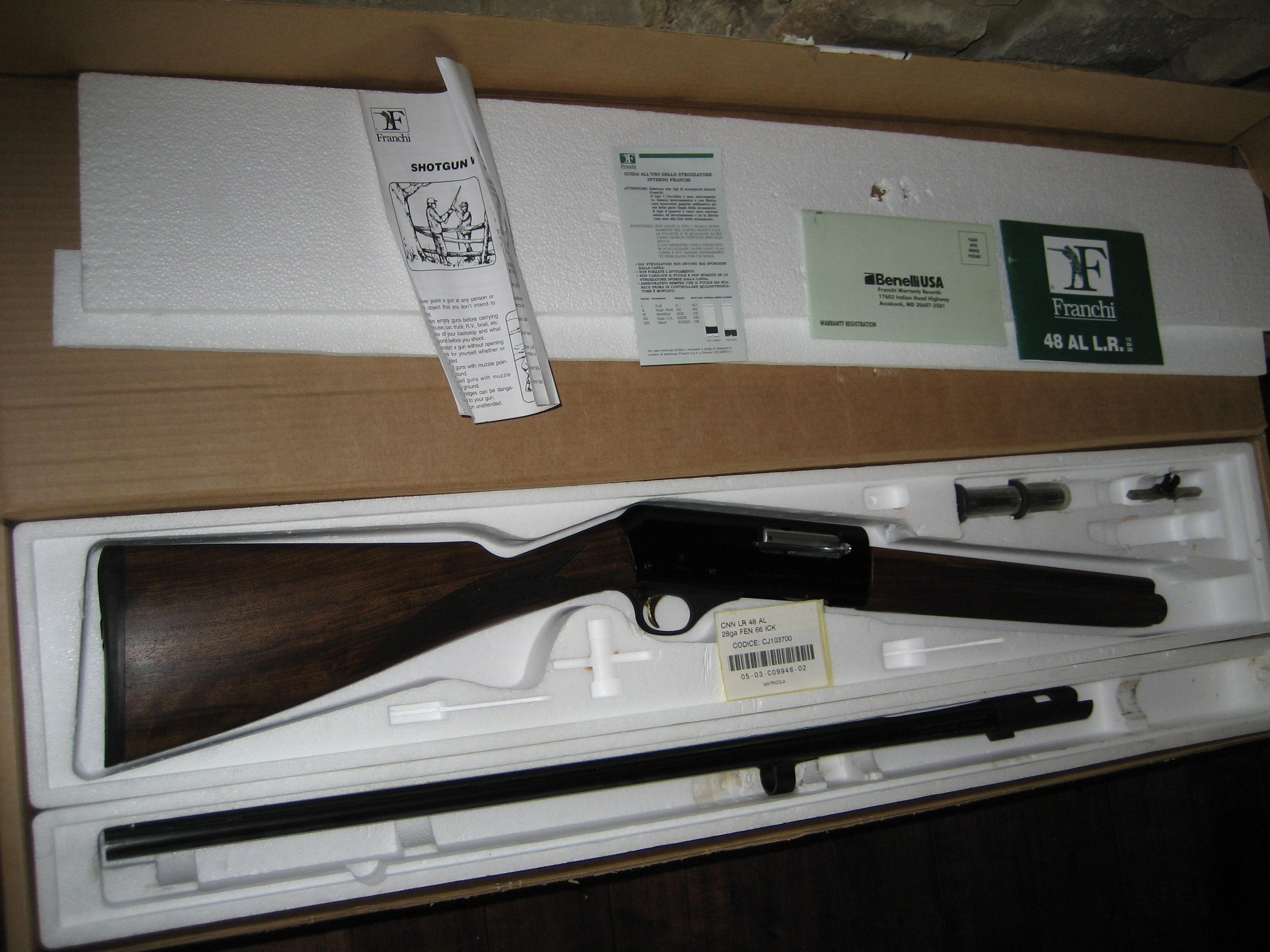 Franchi AL 48 Deluxe 28ga. English Stock  Guns > Shotguns > Franchi Shotguns > Auto/Pump > Hunting