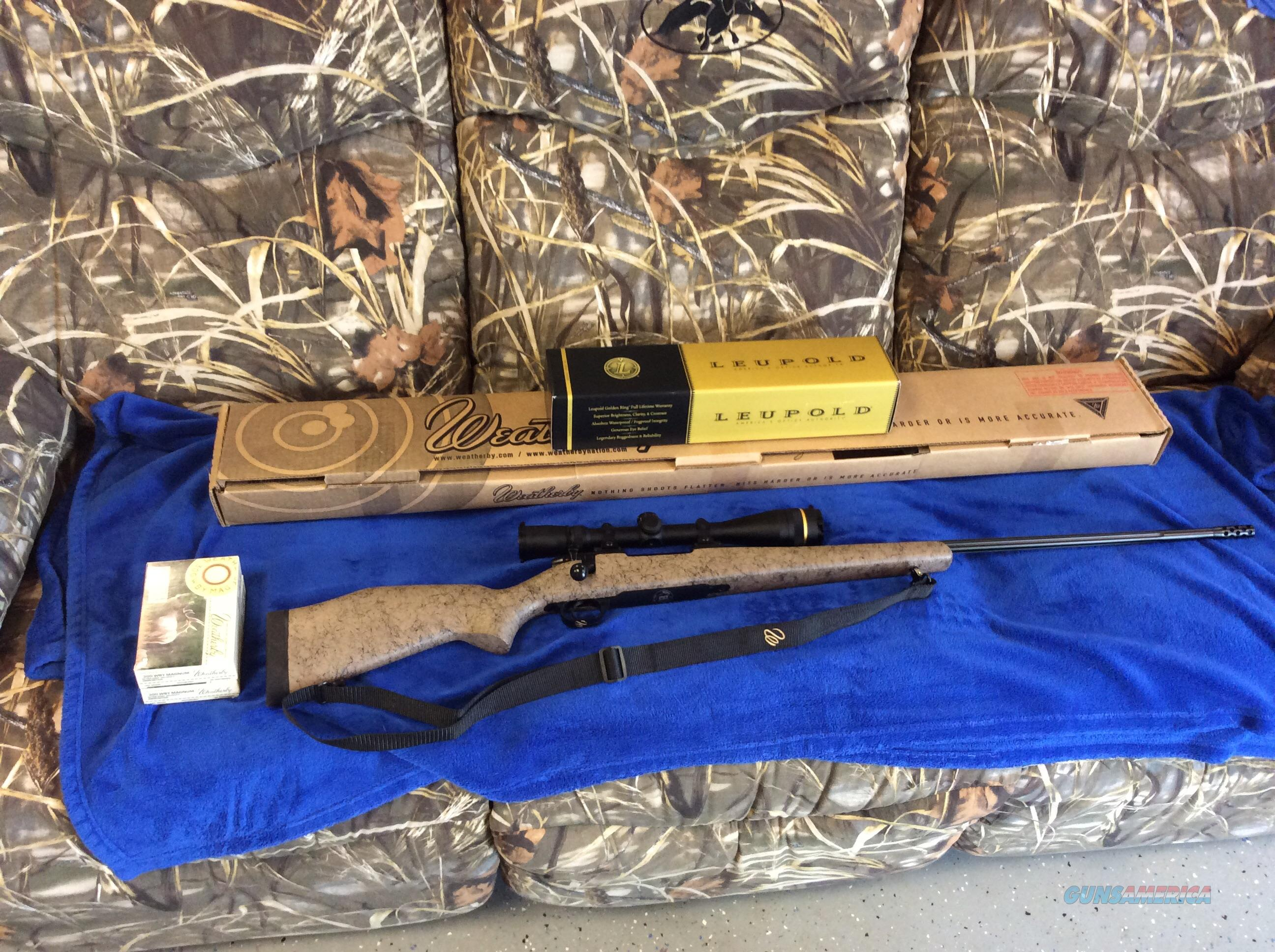 Weatherby Mark V Ultralight RC (range certified) Custom Shop 300 WBY w/Leupold/Ammo  Guns > Rifles > Weatherby Rifles > Sporting