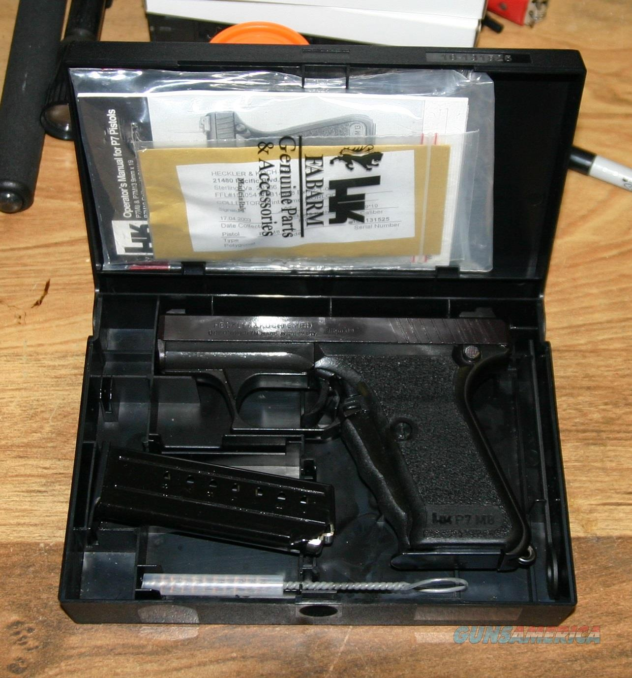 Heckler & Koch P7 M8, P-7 9mm  Guns > Pistols > Heckler & Koch Pistols > SteelFrame