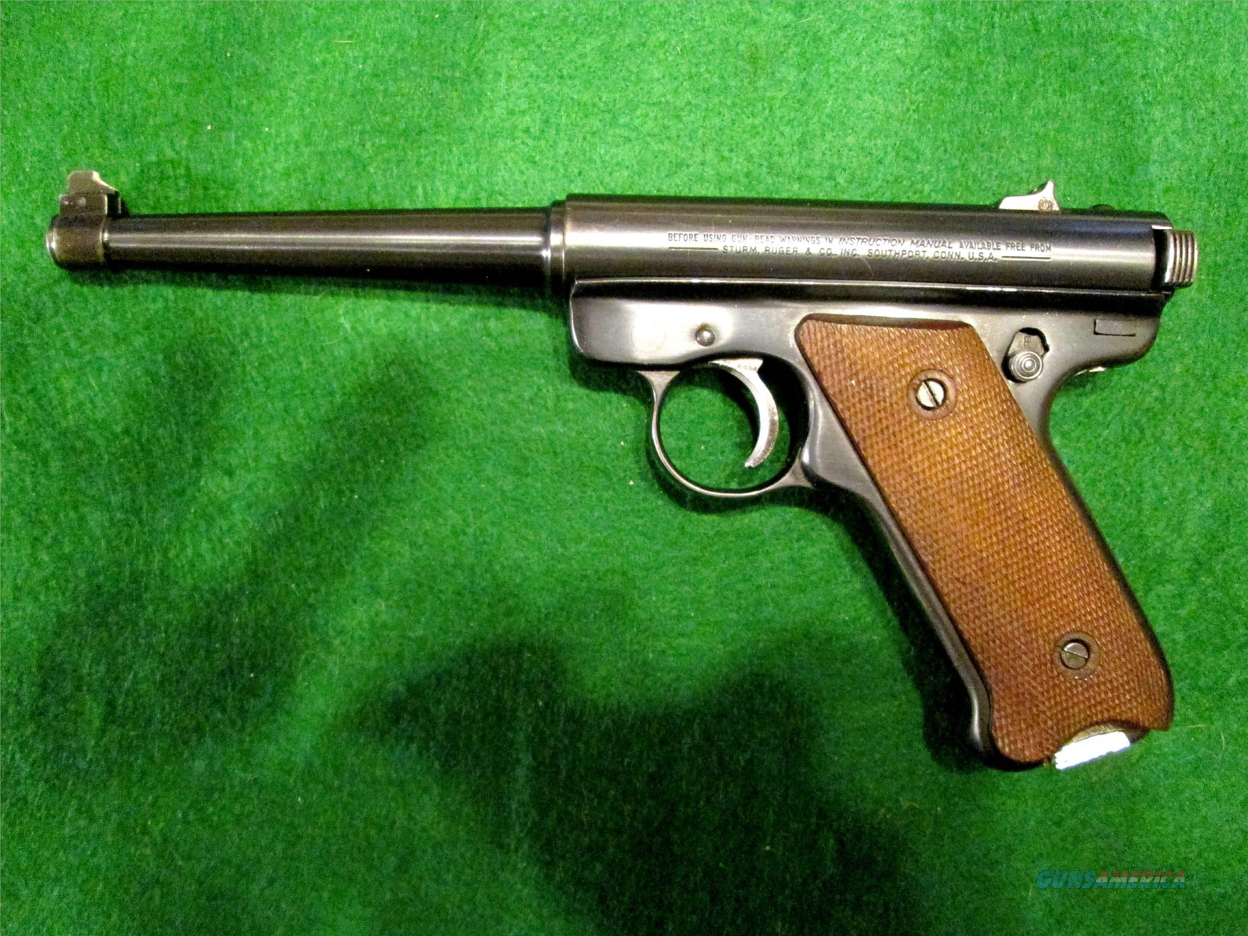 VINTAGE RUGER MK1 – with Case, 2 Magazines – made 1978 - 6 inch Barrel  Guns > Pistols > Ruger Semi-Auto Pistols > Mark I/II/III/IV Family