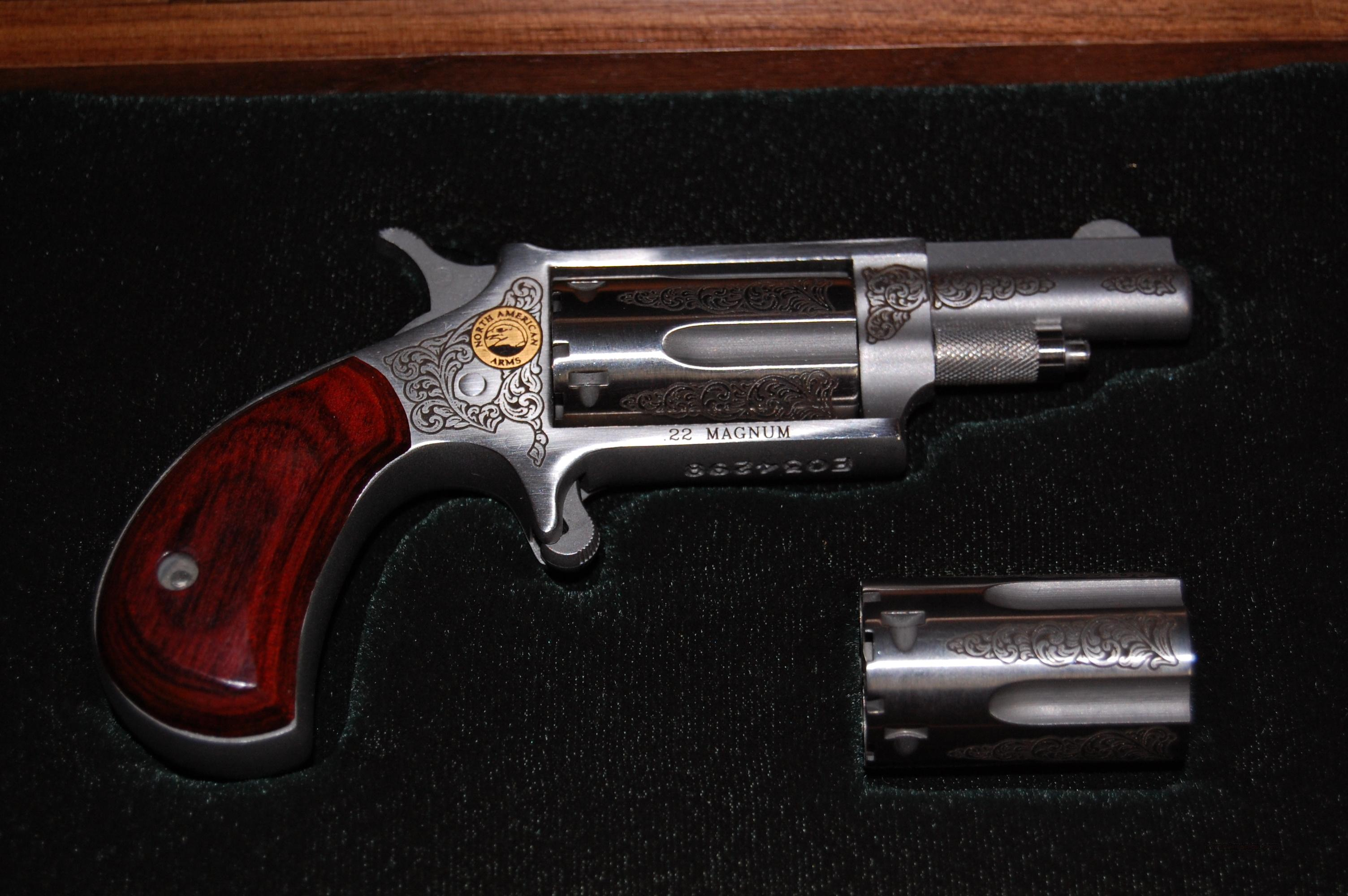 Rare engraved, cased NAA 22mag./22lr  Guns > Pistols > North American Arms Pistols