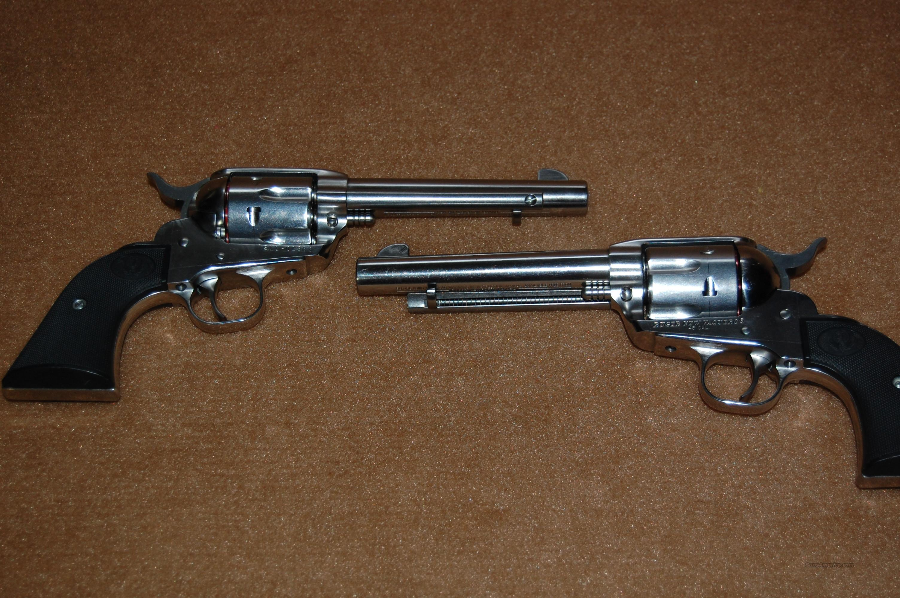 Pair of Ruger New Vaqueros  Guns > Pistols > Ruger Single Action Revolvers > Cowboy Action