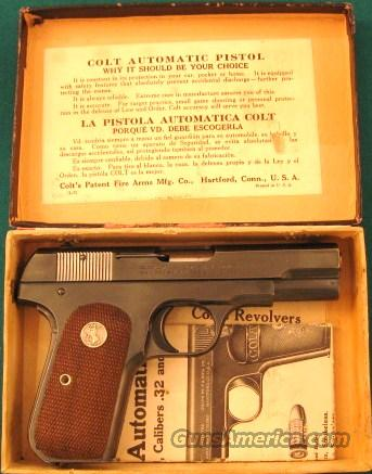 Colt 1903 in original box with papers  Guns > Pistols > Colt Automatic Pistols (.25, .32, & .380 cal)