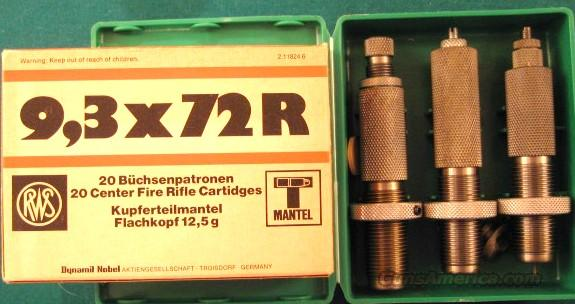 9.3X72R factory RWS full box ammo and RCBS dies.   Non-Guns > Reloading > Equipment > Metallic > Dies